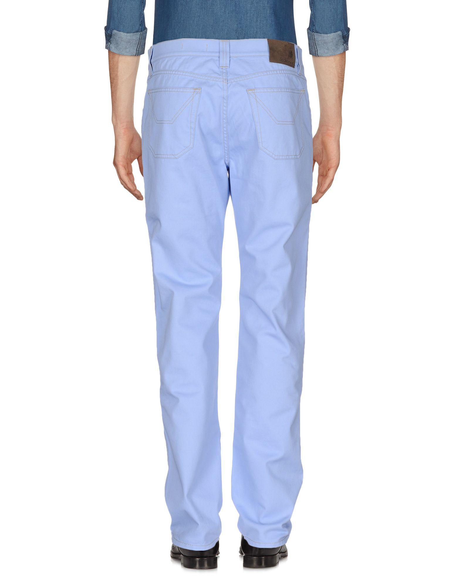 Jeckerson Cotton Casual Trouser in Lilac (Purple) for Men