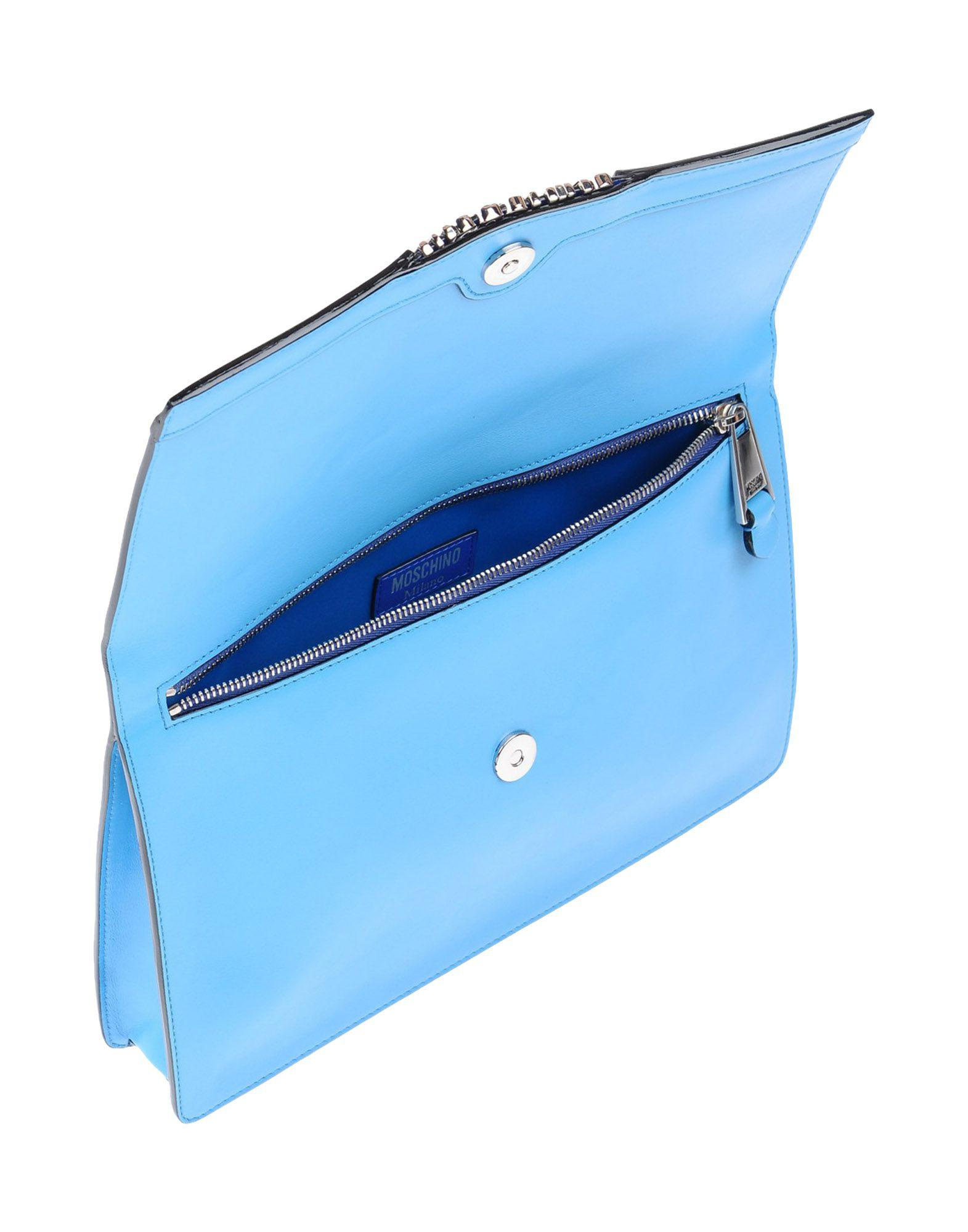 Moschino Leather Cross-body Bags in Blue