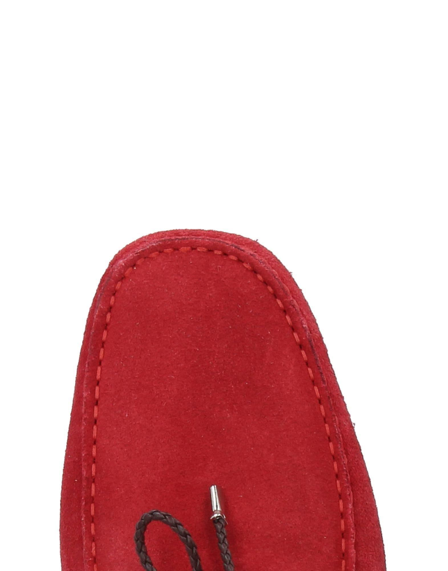 Gold Brothers Leather Loafer in Red for Men
