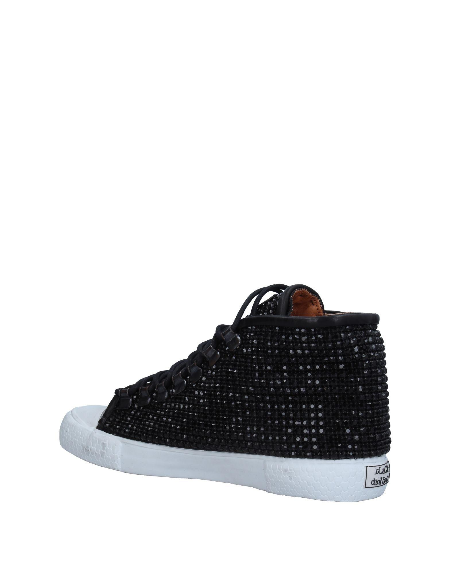 Black Dioniso Leather High-tops & Sneakers in Black