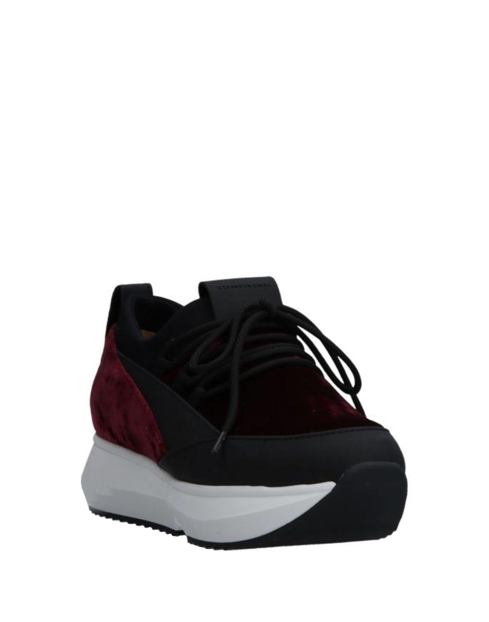 Alexander Smith Leather Low-tops & Sneakers in Maroon (Black)