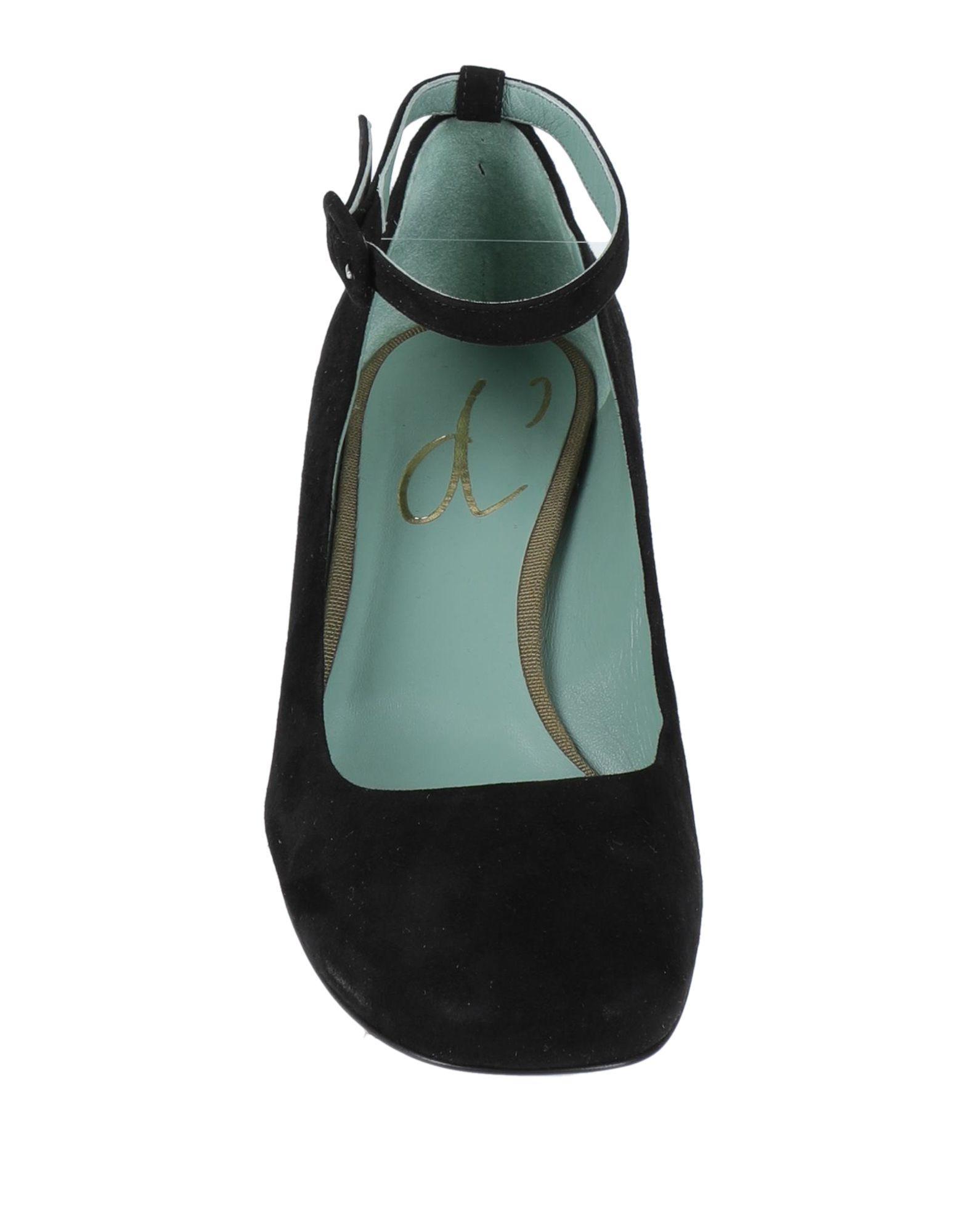Zapatos de salón Paola D'arcano de Ante de color Negro