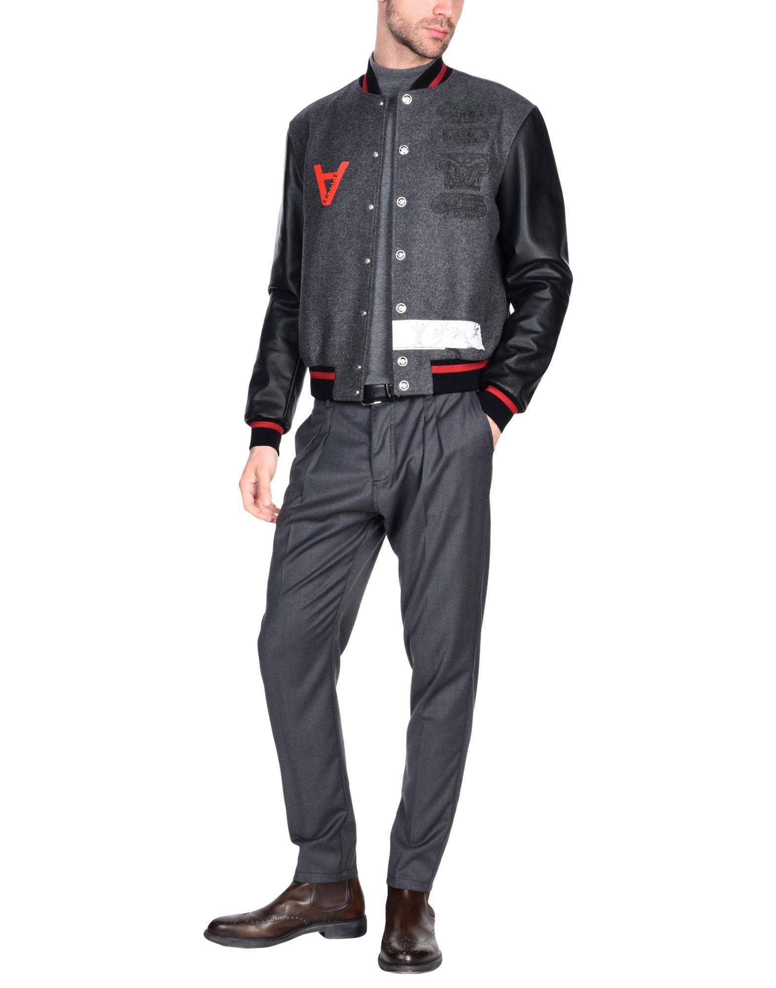 Versace Wool Jacket in Grey (Grey) for Men