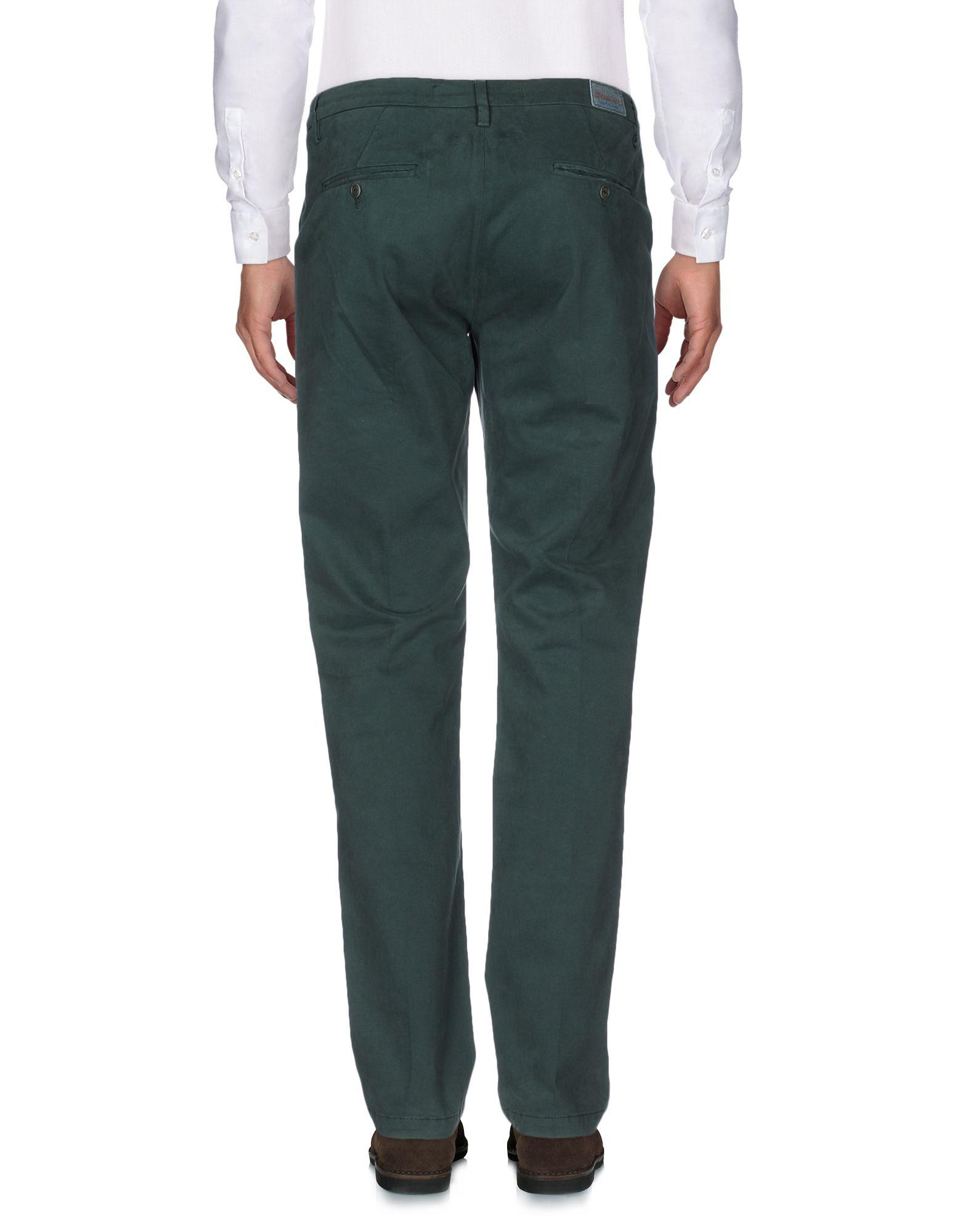 TRUE NYC Cotton Casual Trouser in Green for Men