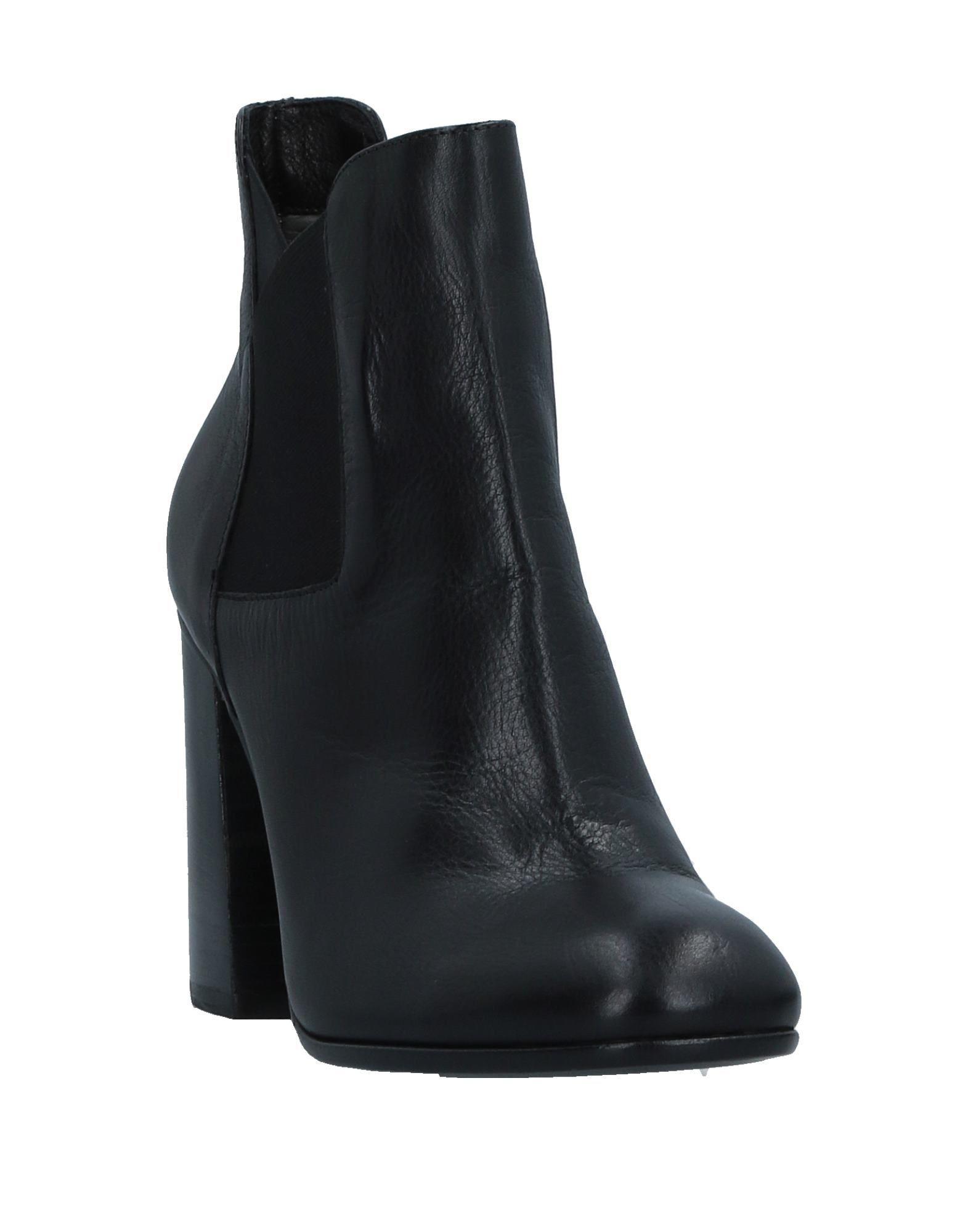 Botines de caña alta Janet & Janet de Cuero de color Negro