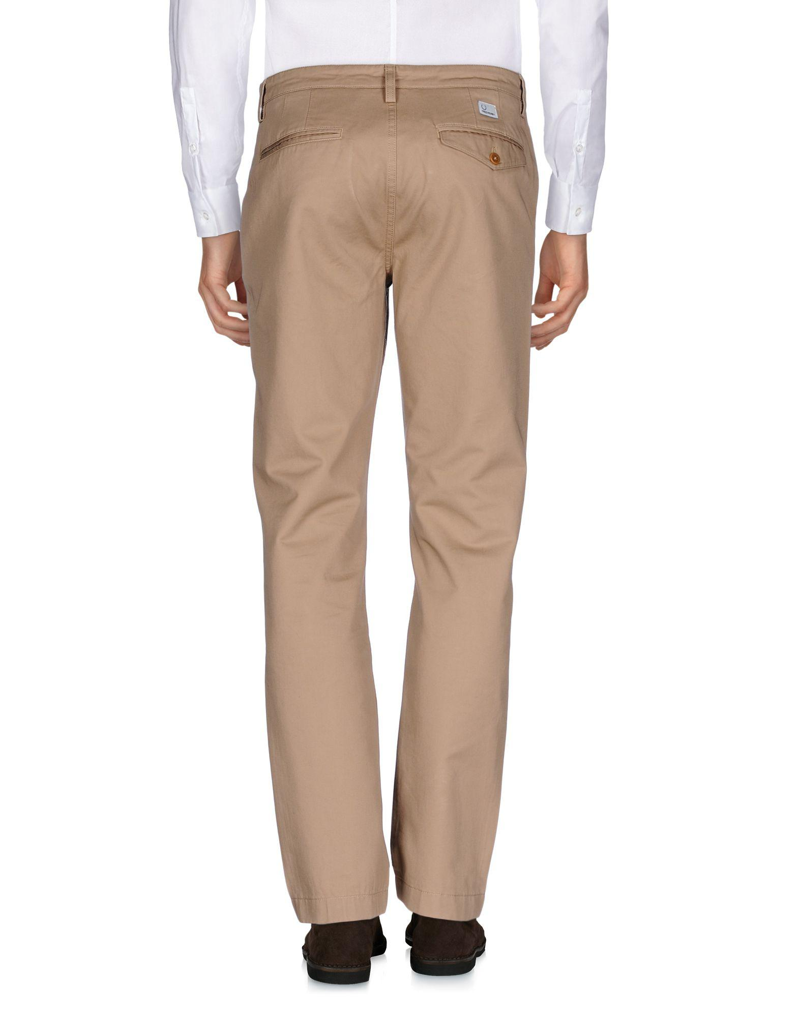 Fred Perry Cotton Casual Trouser in Beige (Natural) for Men