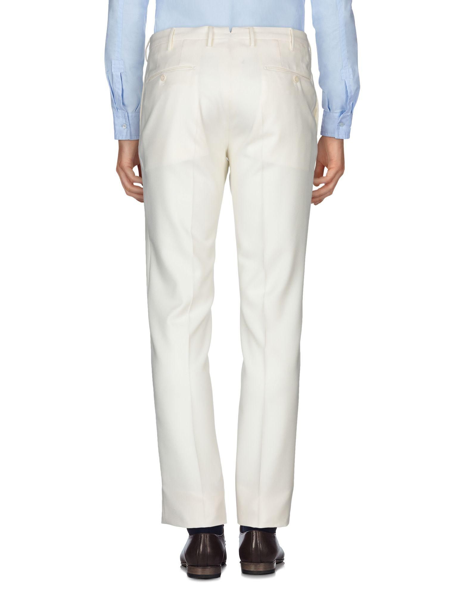 Incotex Wool Casual Trouser in Ivory (White) for Men