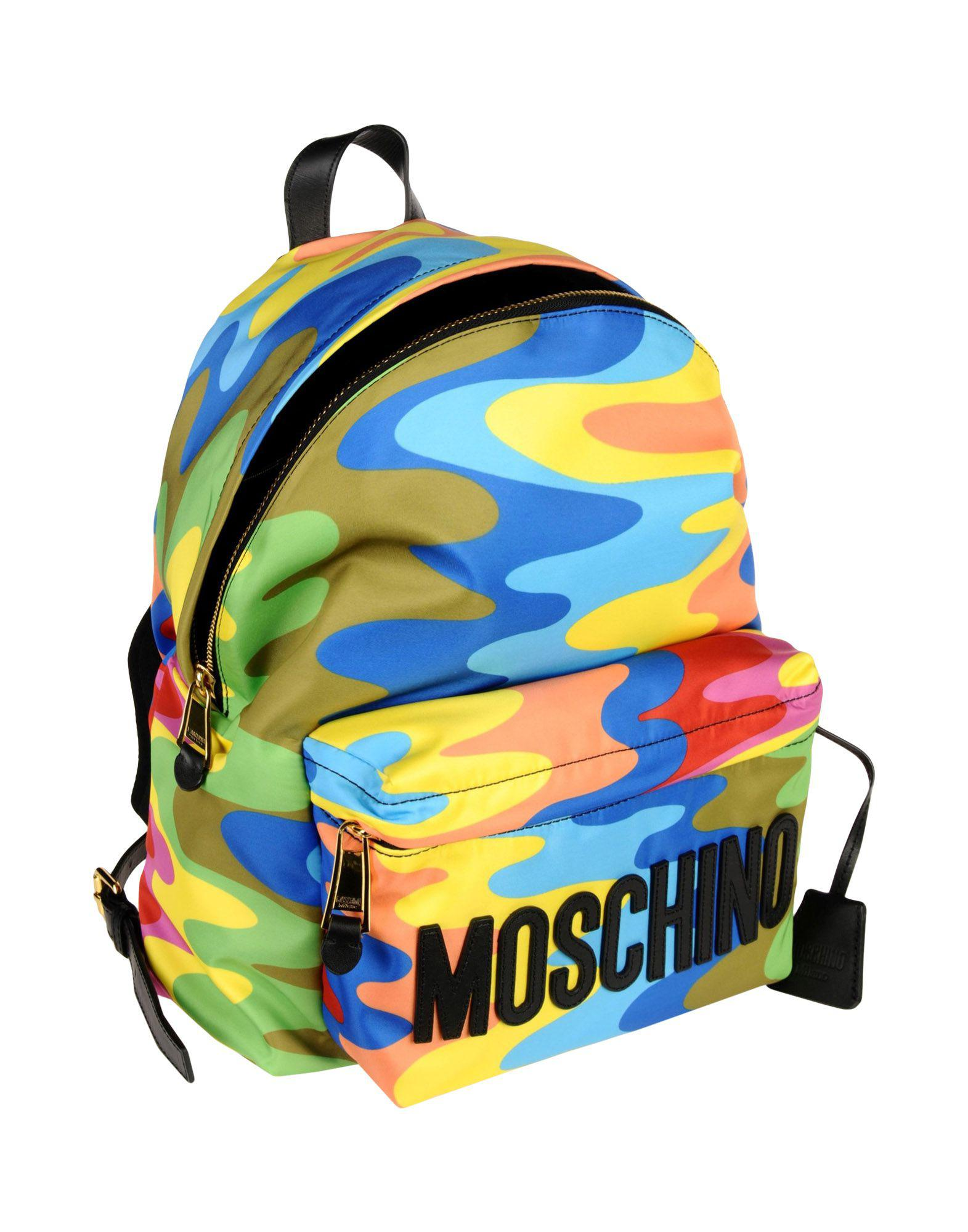 Moschino Satin Backpacks & Bum Bags in Azure (Blue)