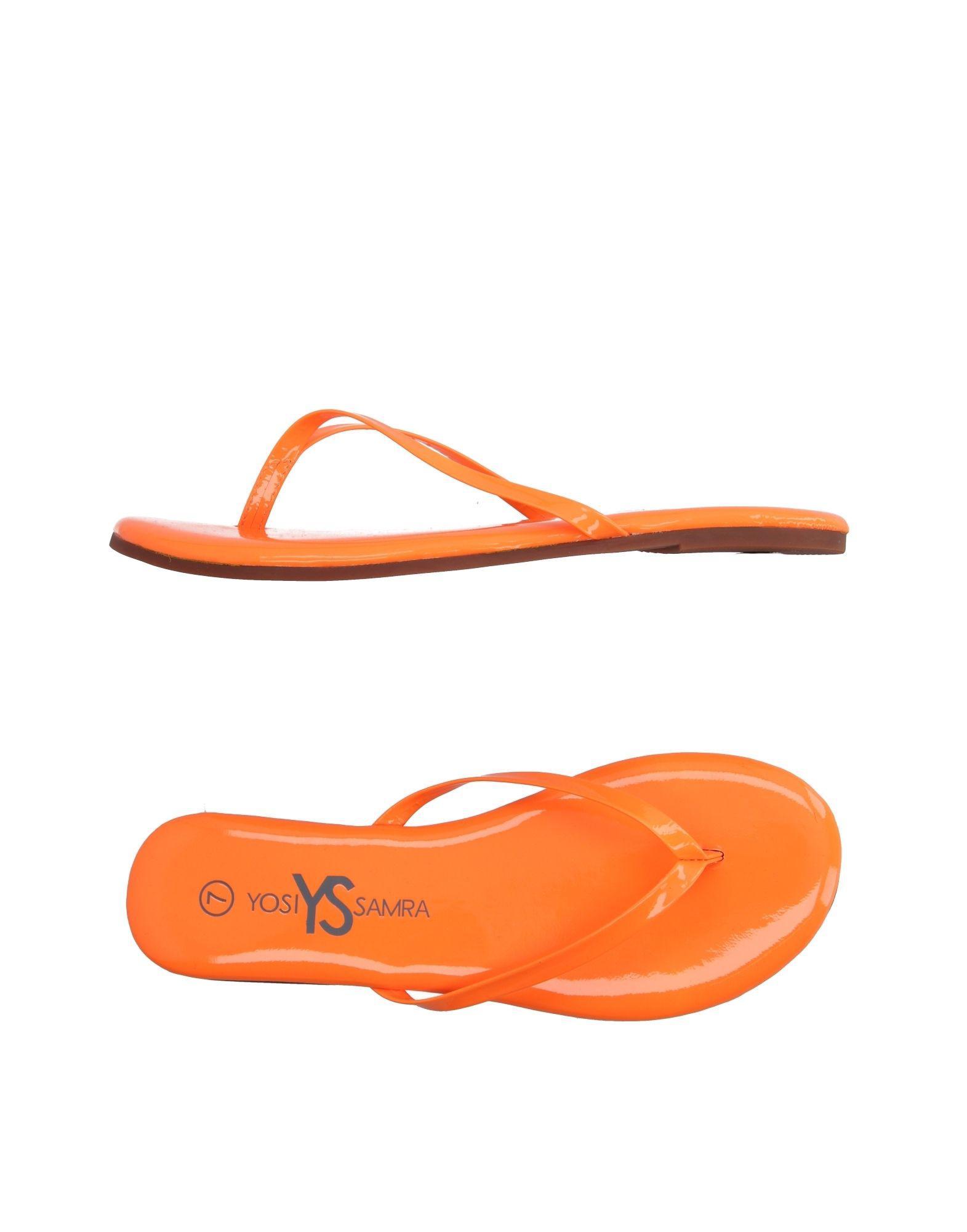 72433813a824c Yosi Samra Toe Post Sandal in Orange - Lyst