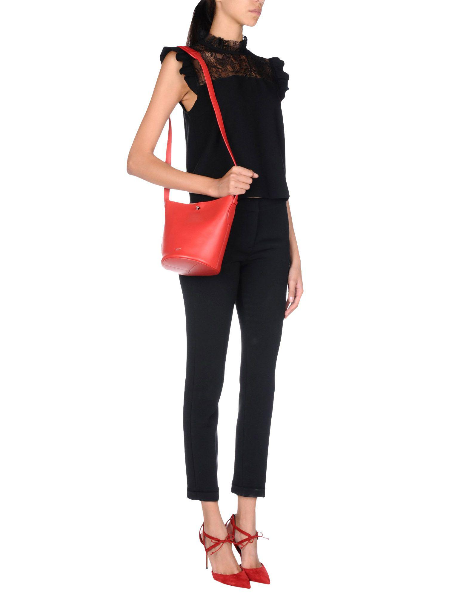 Rochas Leather Cross-body Bag in Red