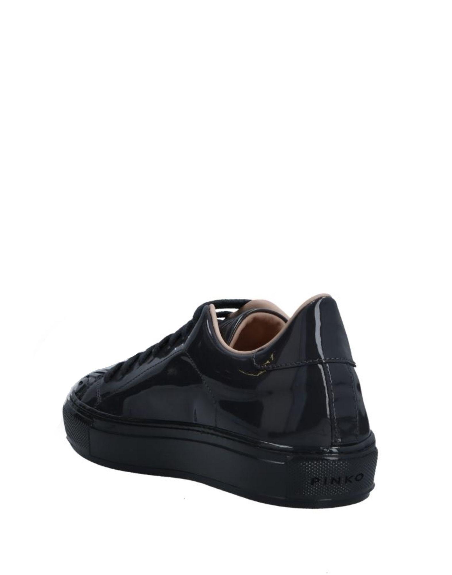 Pinko Leather Low-tops & Sneakers in Steel Grey (Grey)