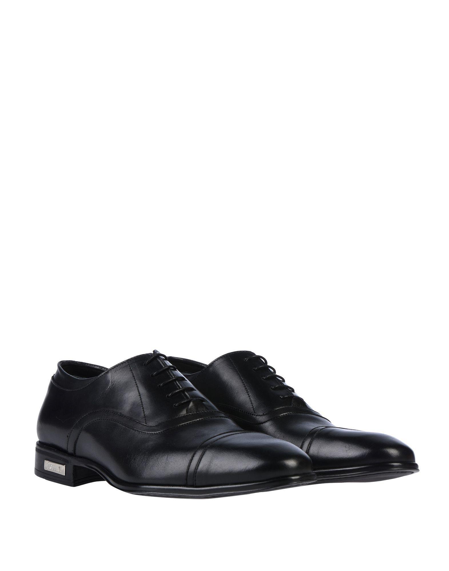 Zapatos de cordones Pollini de Cuero de color Negro para hombre