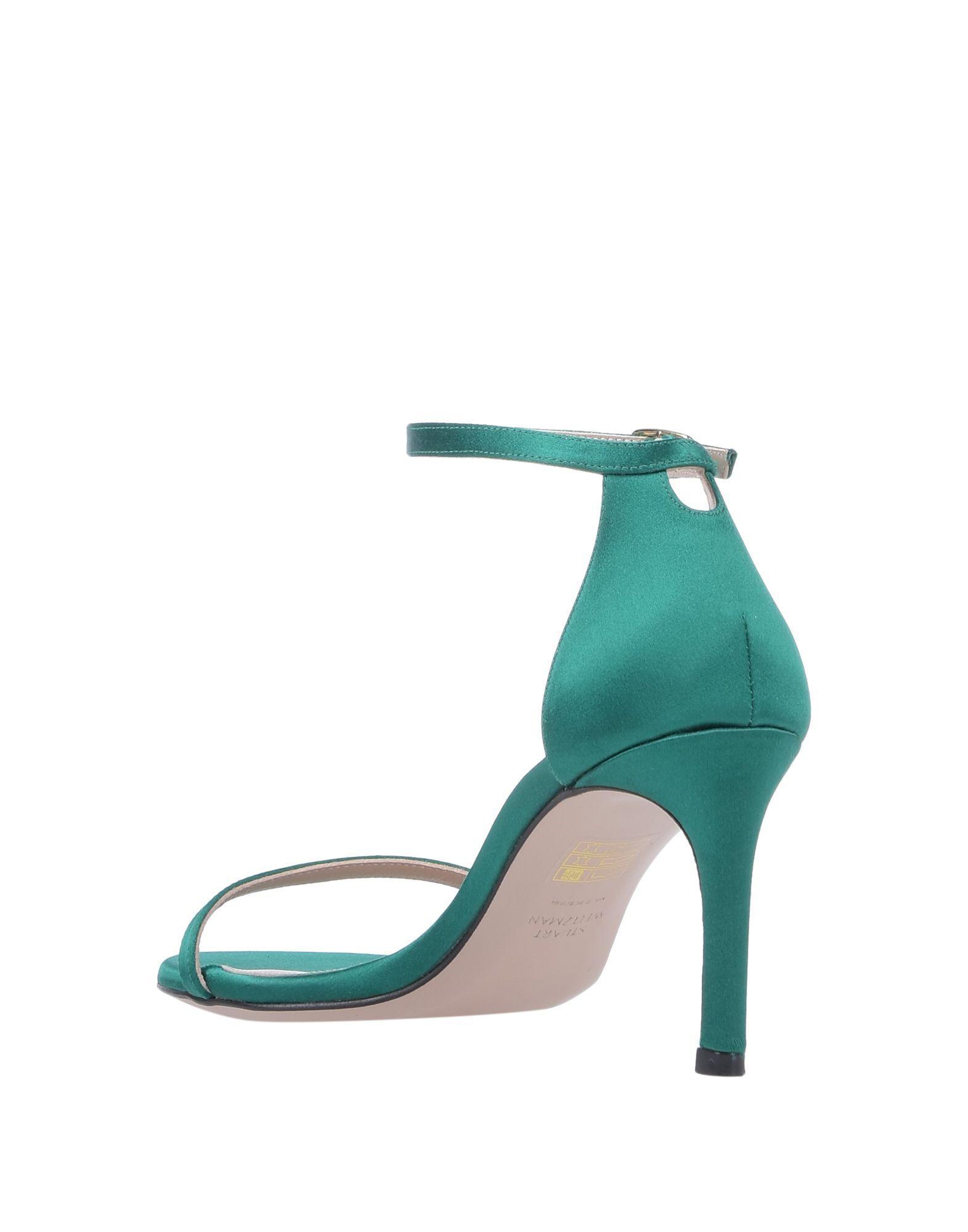Sandales Satin Stuart Weitzman en coloris Vert