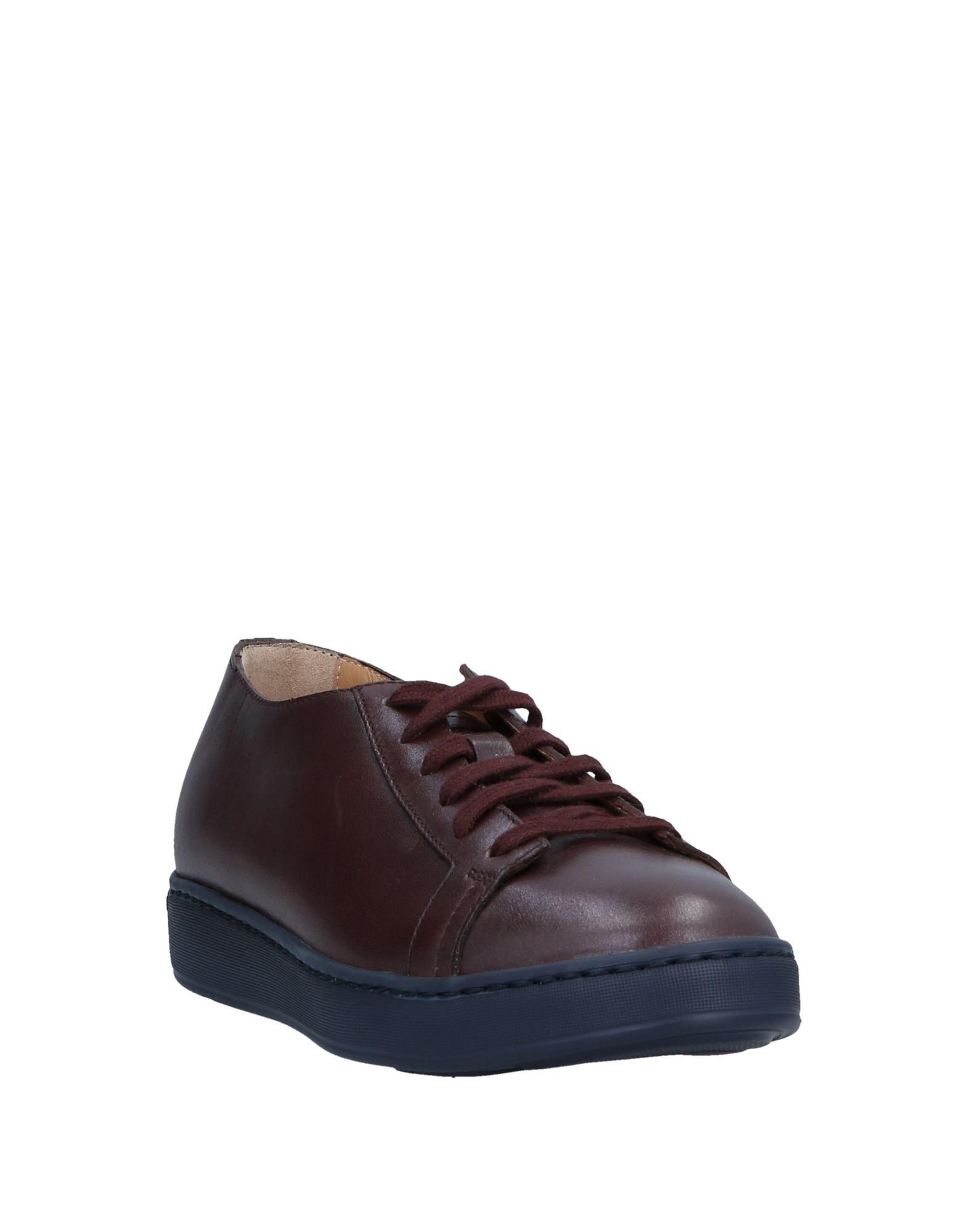 Santoni Leather Low-tops & Sneakers in Maroon (Purple)