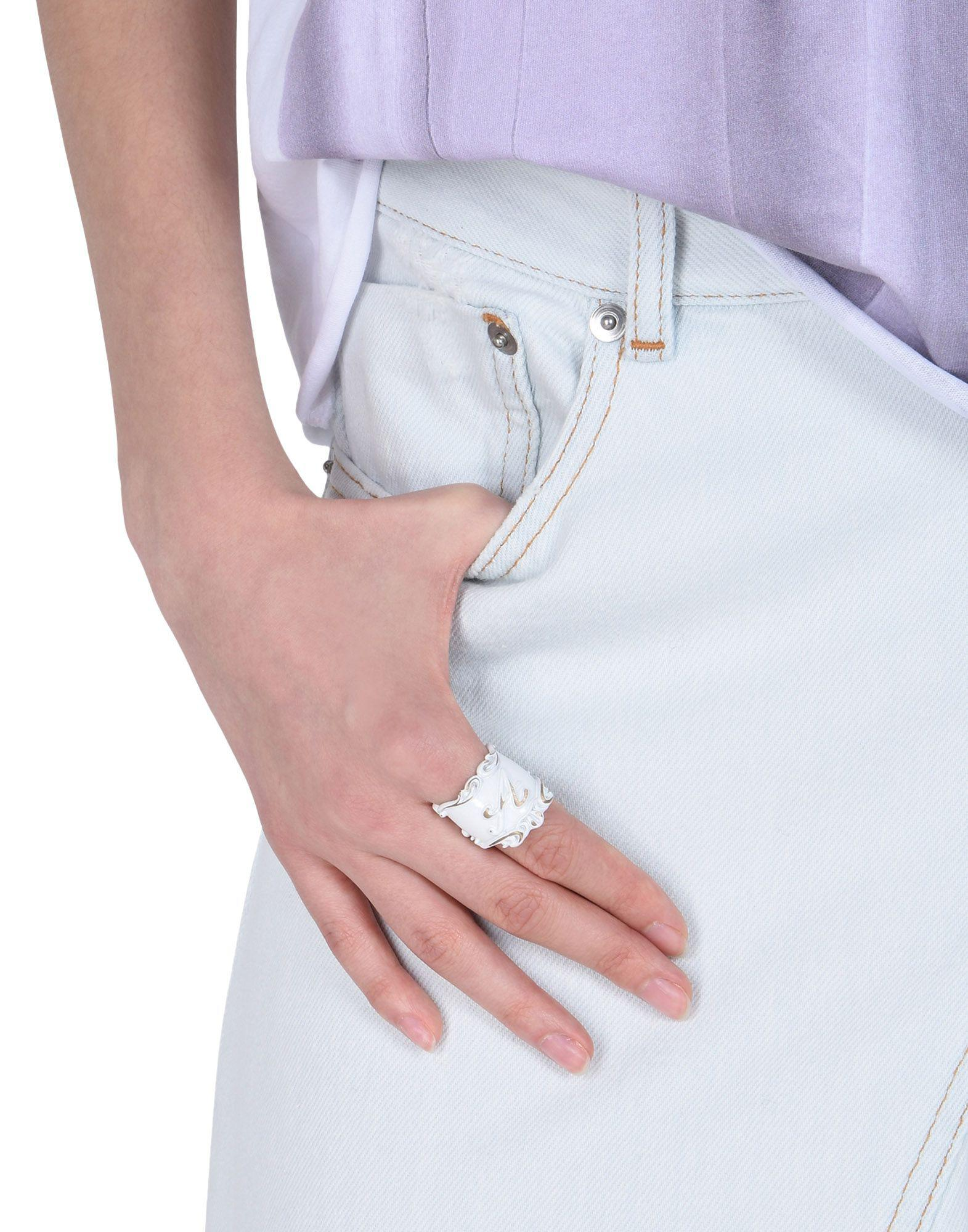 Lyst - Mm6 By Maison Martin Margiela Ring in White