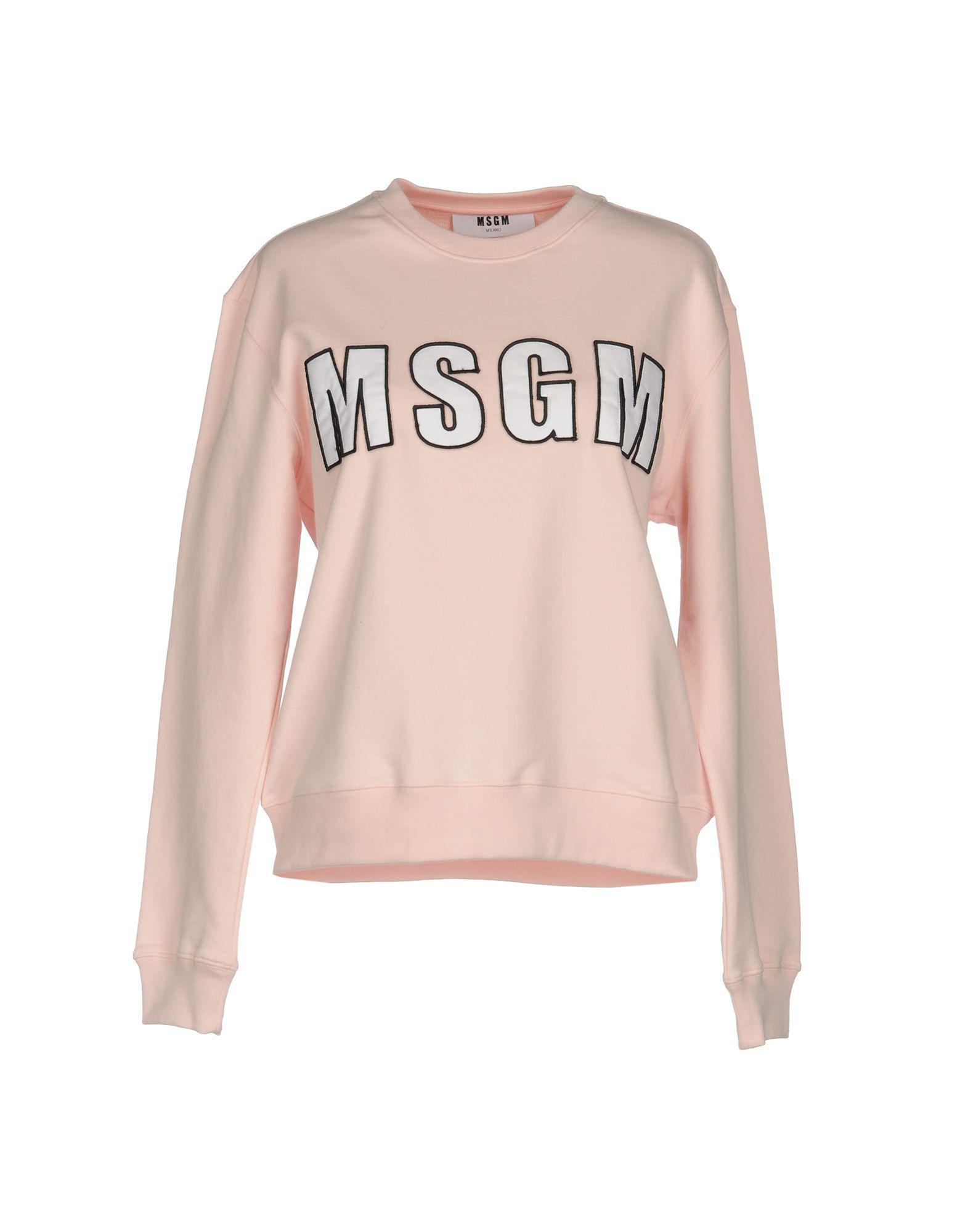 b610347baa Lyst - Msgm Sweatshirt in Pink
