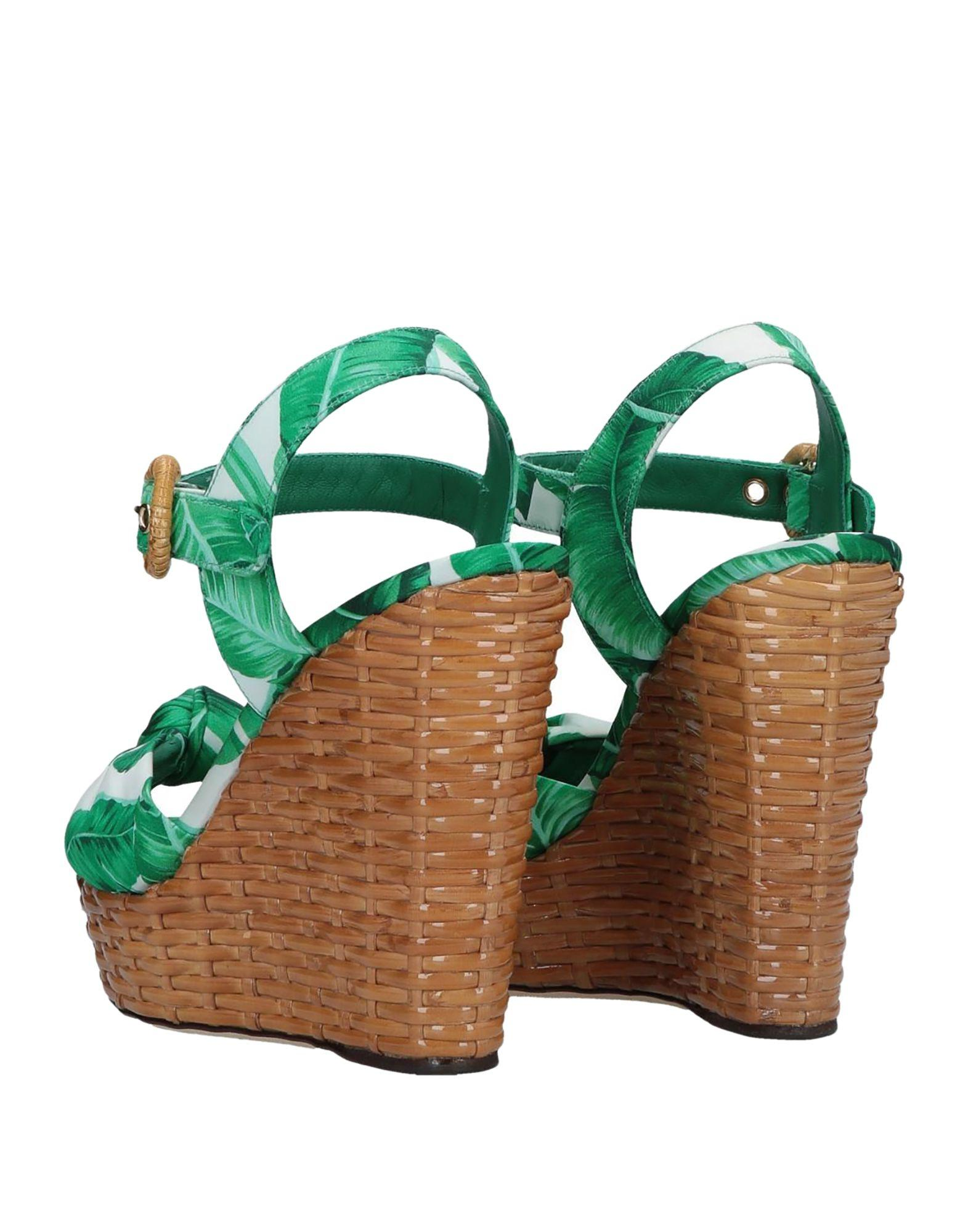 45bd6959f6c Dolce   Gabbana Sandals in Green - Lyst