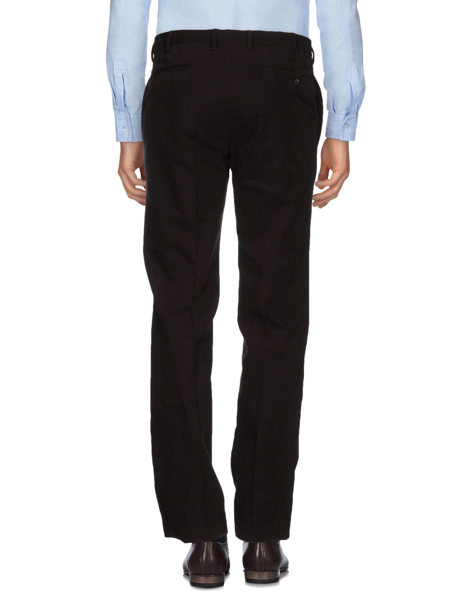 Burberry Cotton Casual Pants in Dark Brown (Brown) for Men