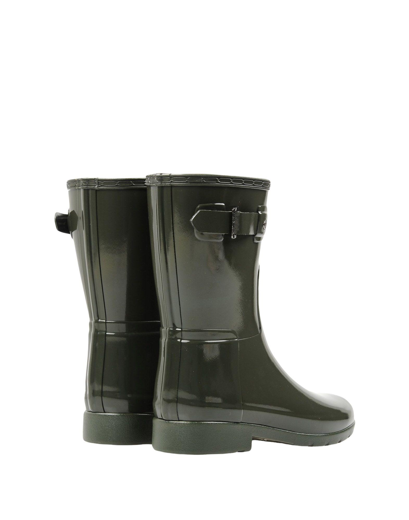 HUNTER Rubber Ankle Boots in Khaki (Green)