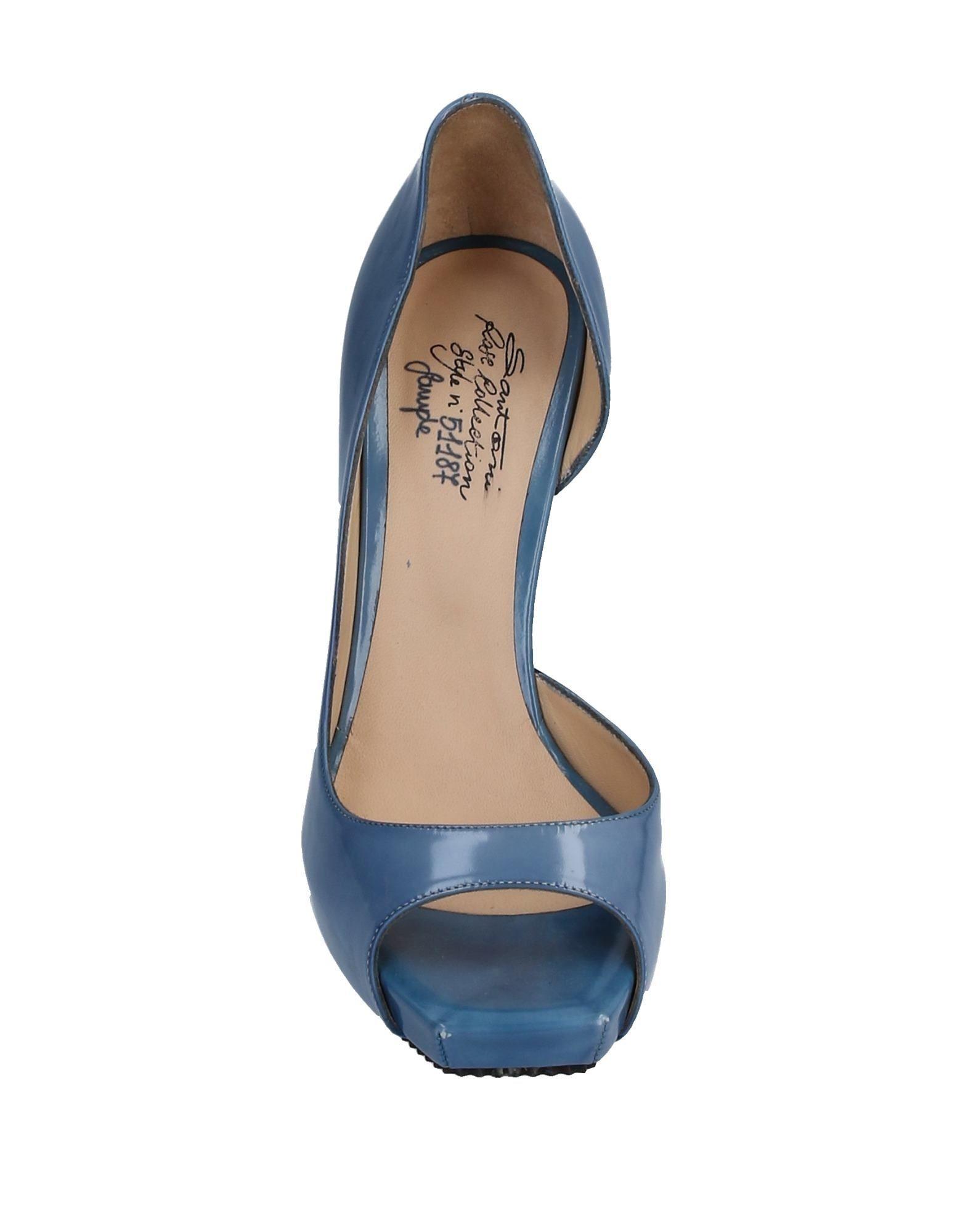 Zapatos de salón Santoni de Cuero de color Azul