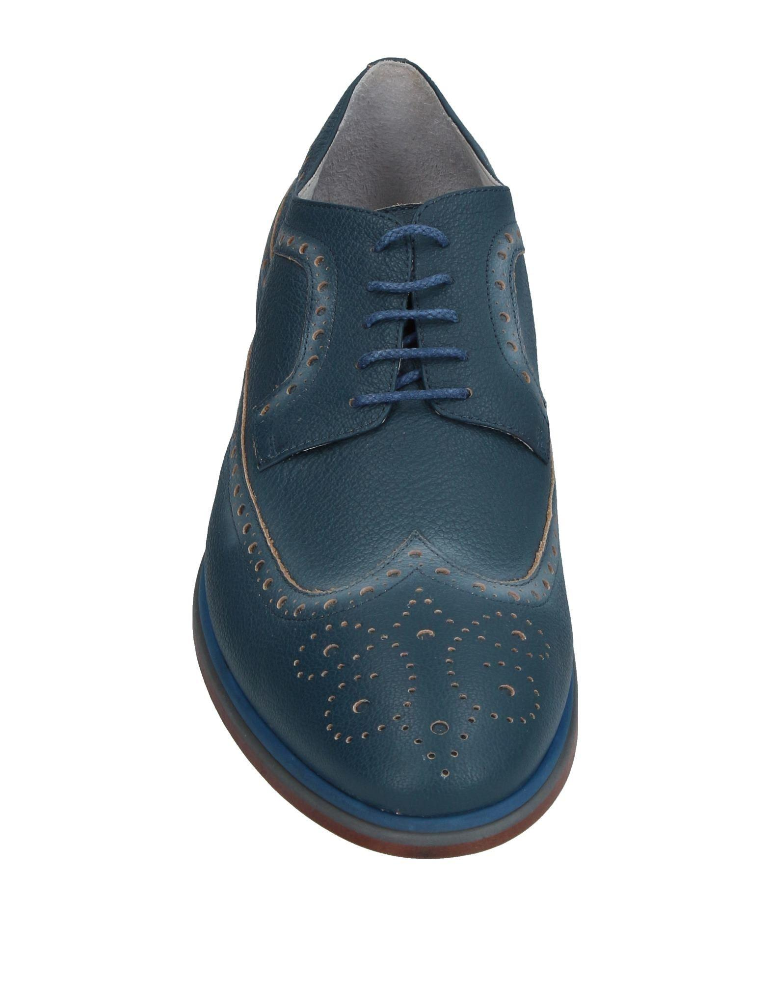 Alberto Guardiani Leather Lace-up Shoe in Deep Jade (Blue) for Men