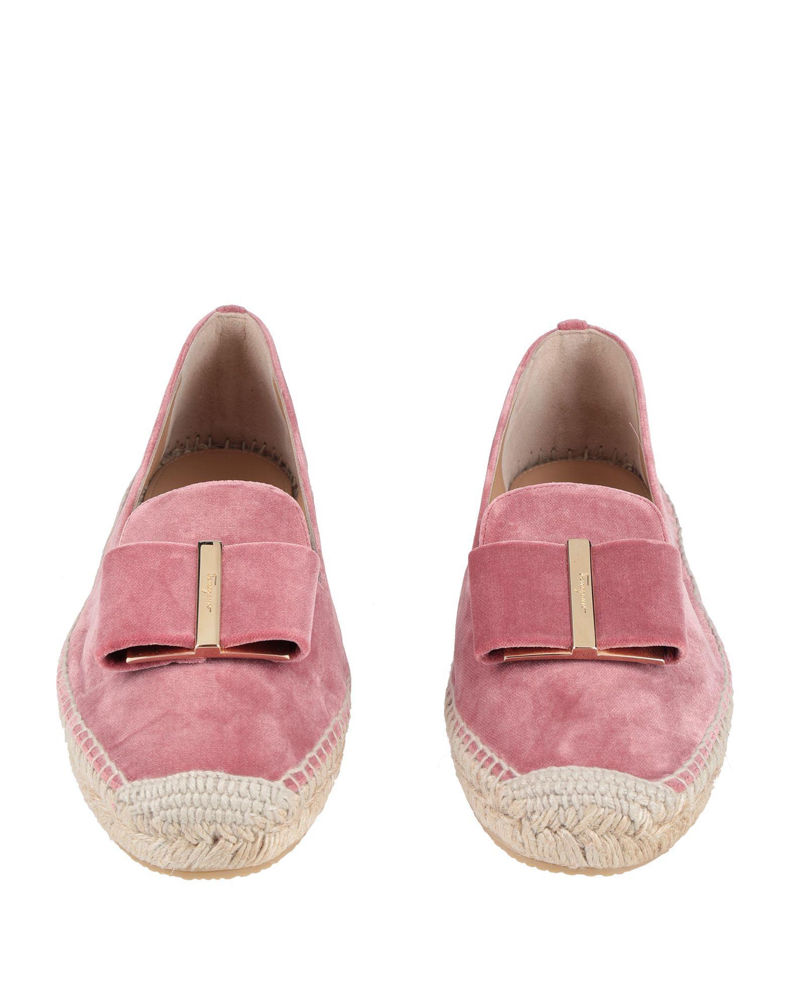 Espadrillas Ferragamo de Terciopelo de color Rosa