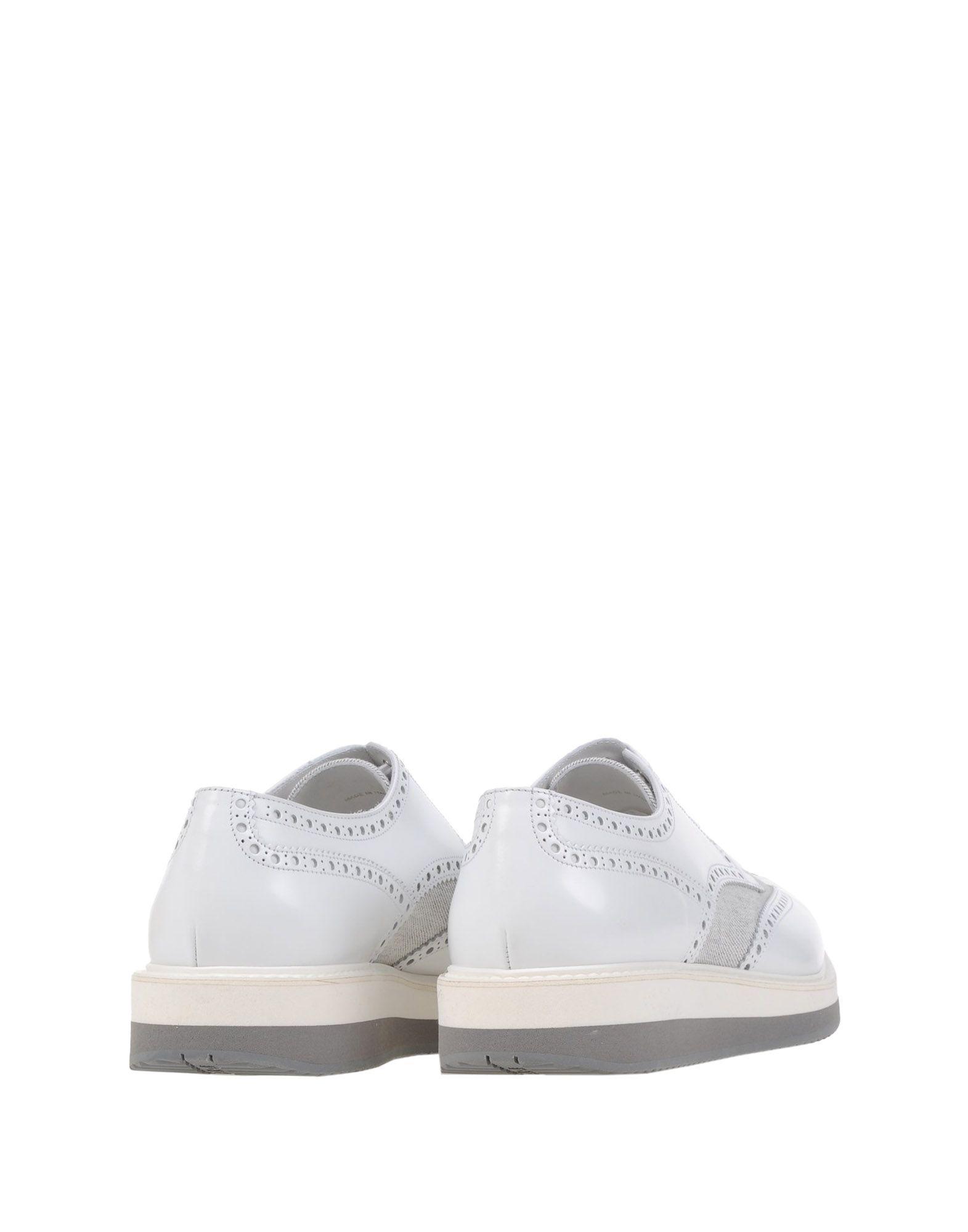 Prada Denim Lace-up Shoe in White for Men