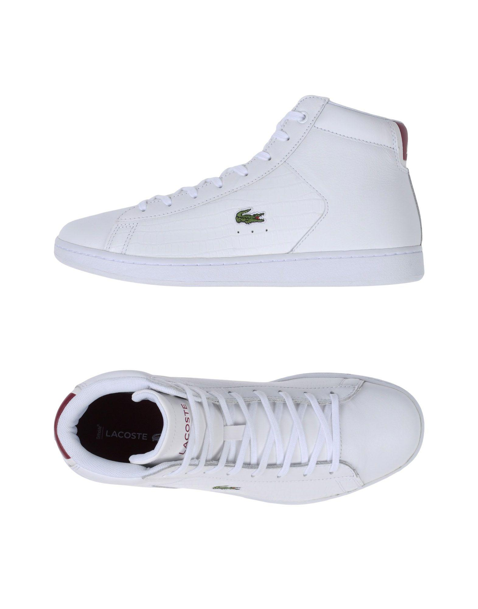 lyst lacoste hightops amp sneakers in white for men save 4