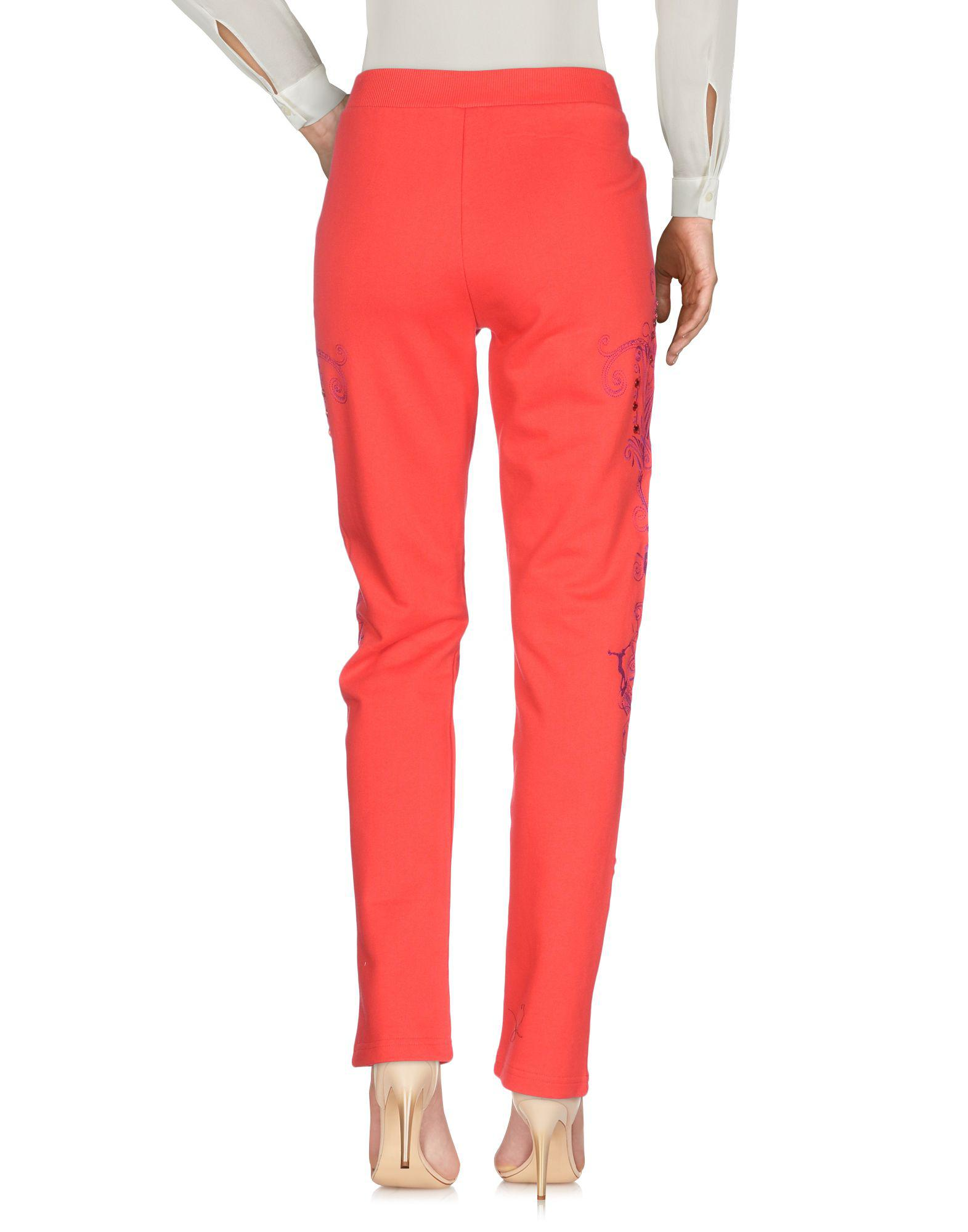 Versace Jeans Couture Fleece Casual Pants in Coral (Red)