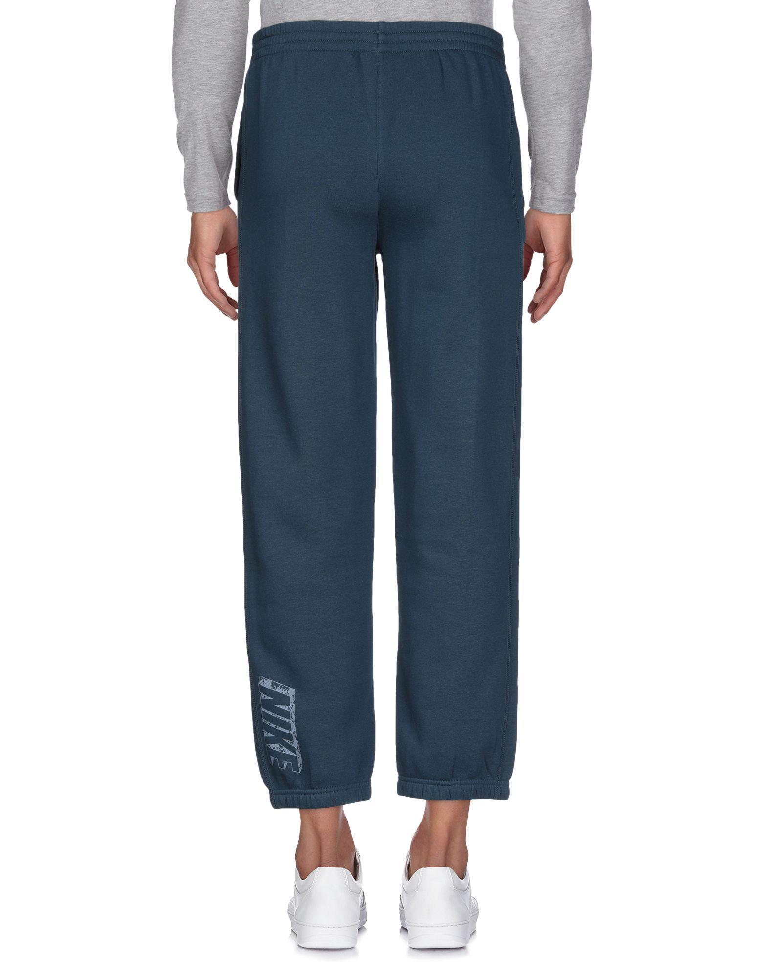 Nike Fleece Casual Pants in Dark Blue (Blue) for Men