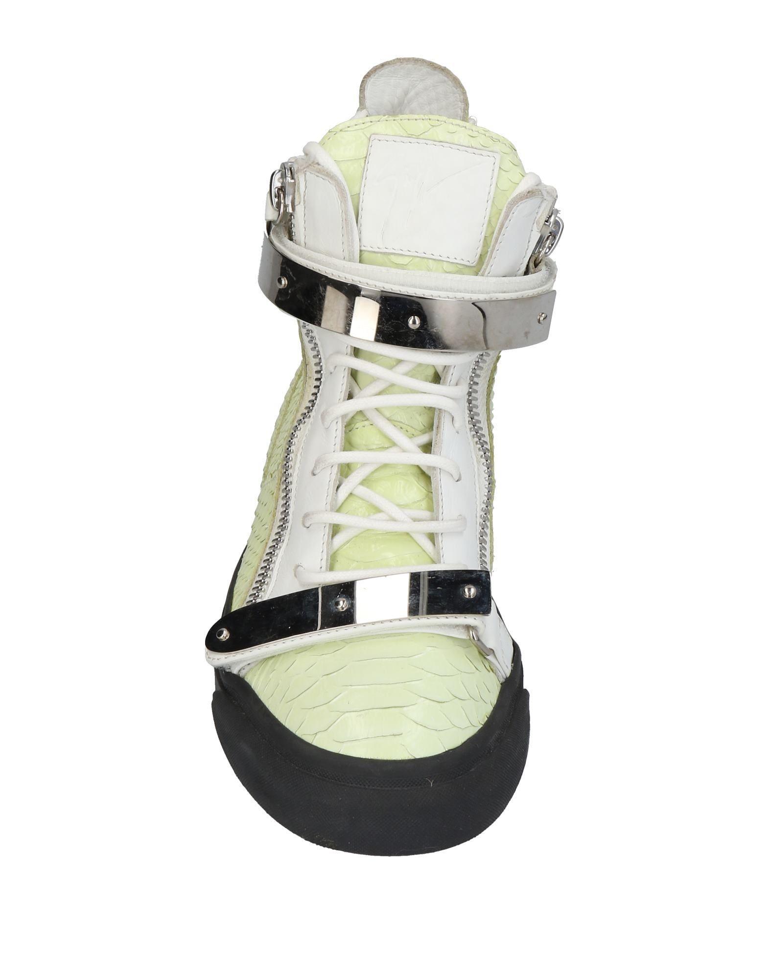 Giuseppe Zanotti Leather High-tops & Sneakers in Light Green (Green)