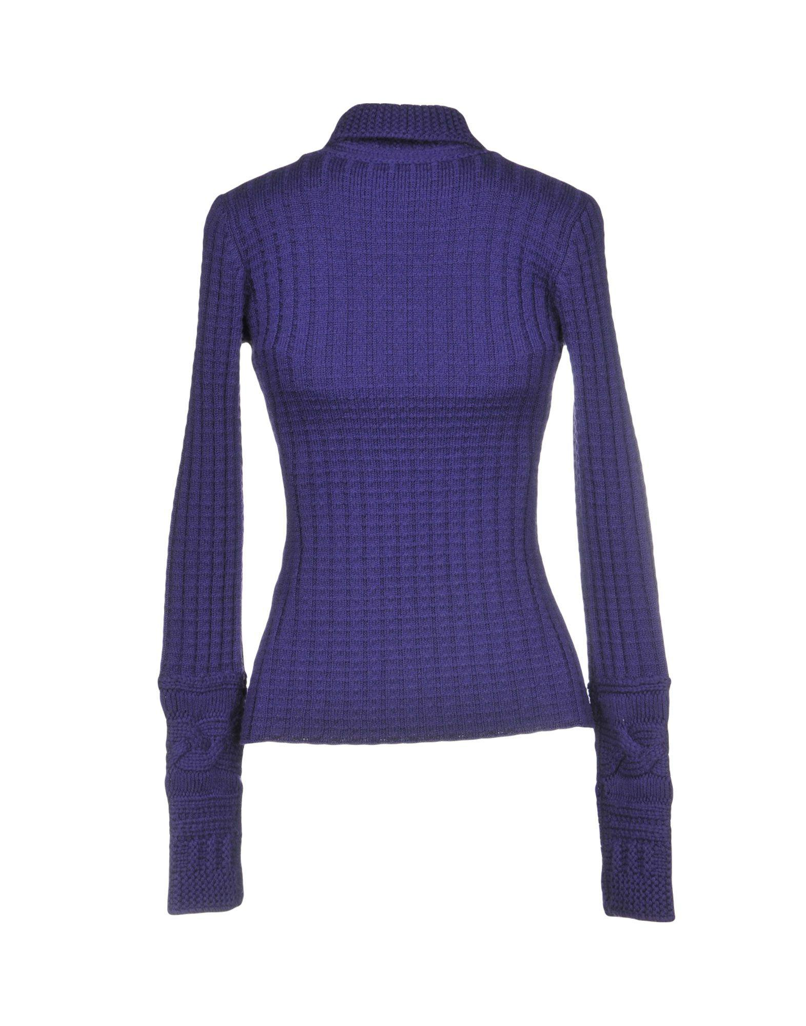 Versace Jeans Couture Wool Turtleneck in Purple