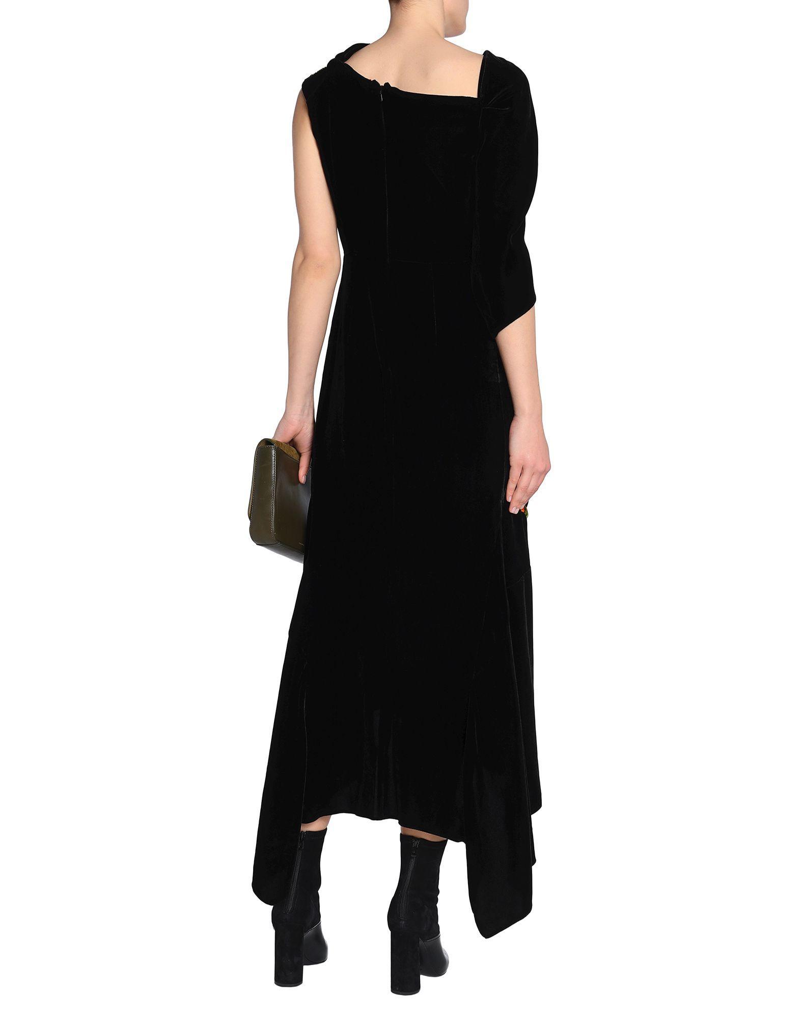 Vestido largo Peter Pilotto de Terciopelo de color Negro