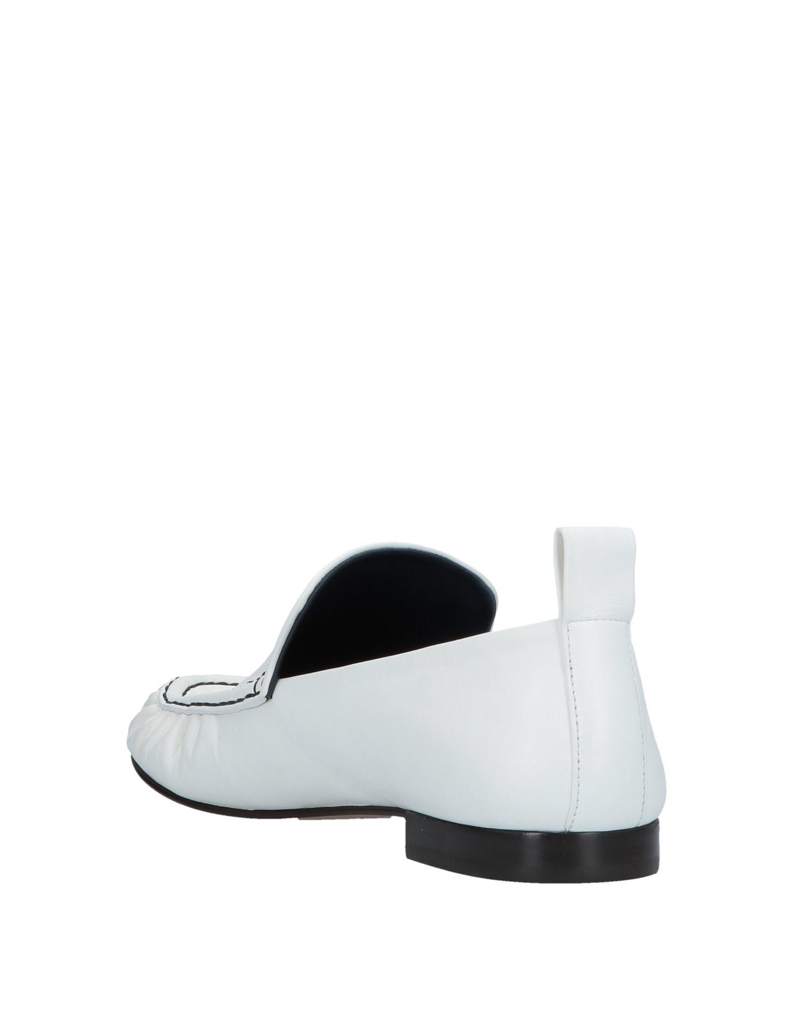 Mocasines Celine de Cuero de color Blanco