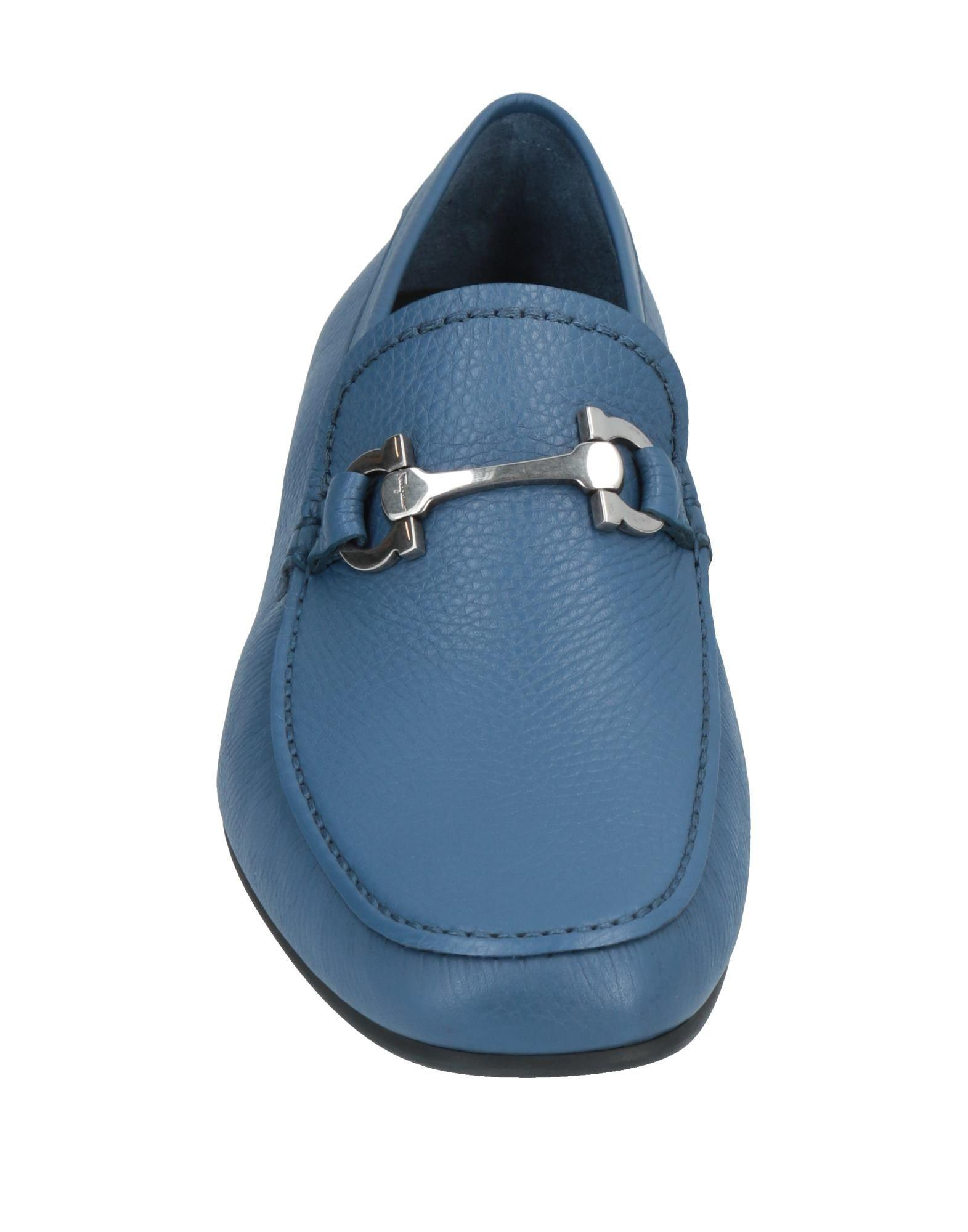 Mocasines Ferragamo de Cuero de color Azul para hombre