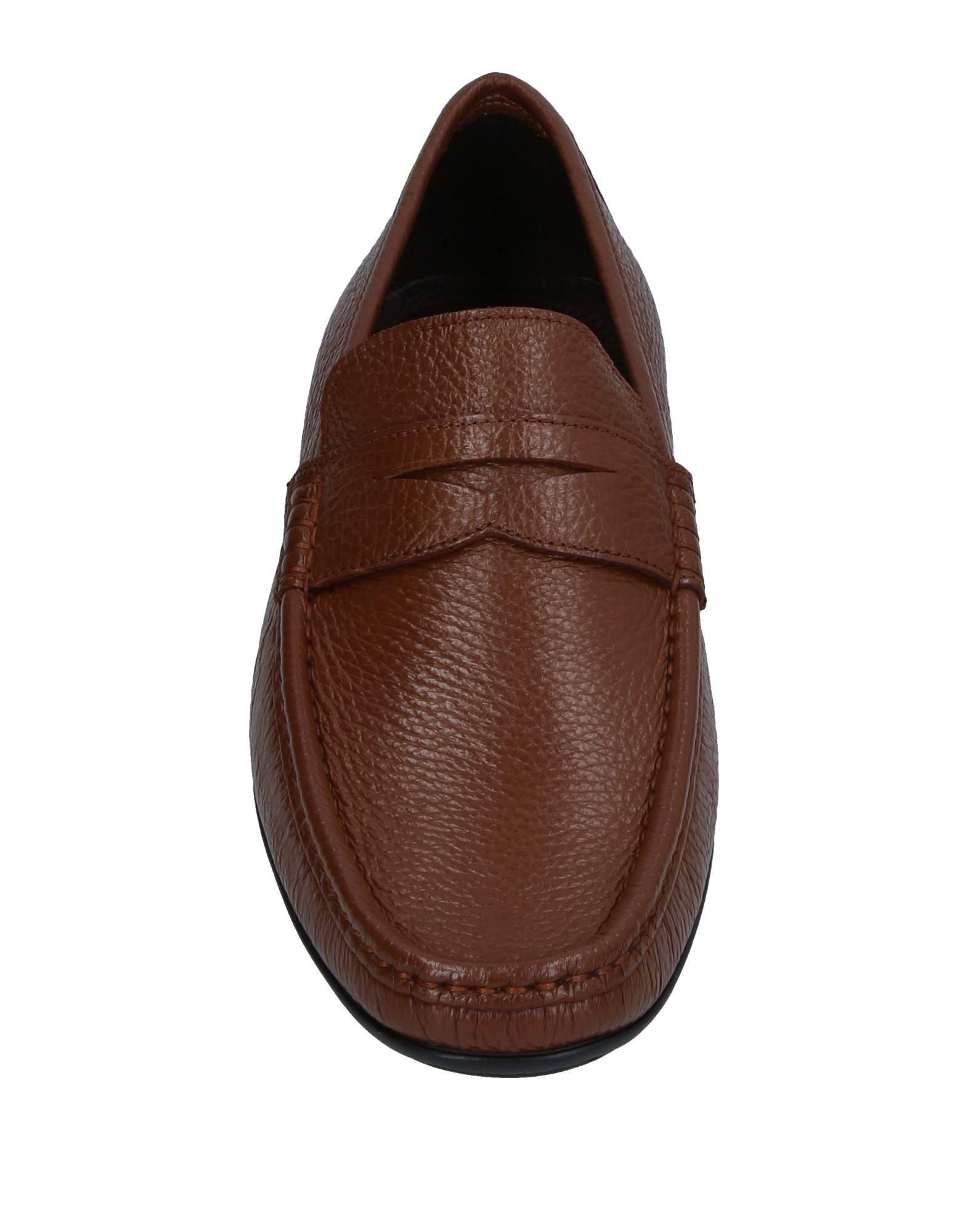 Bruno Magli Leather Loafer in Brown for Men