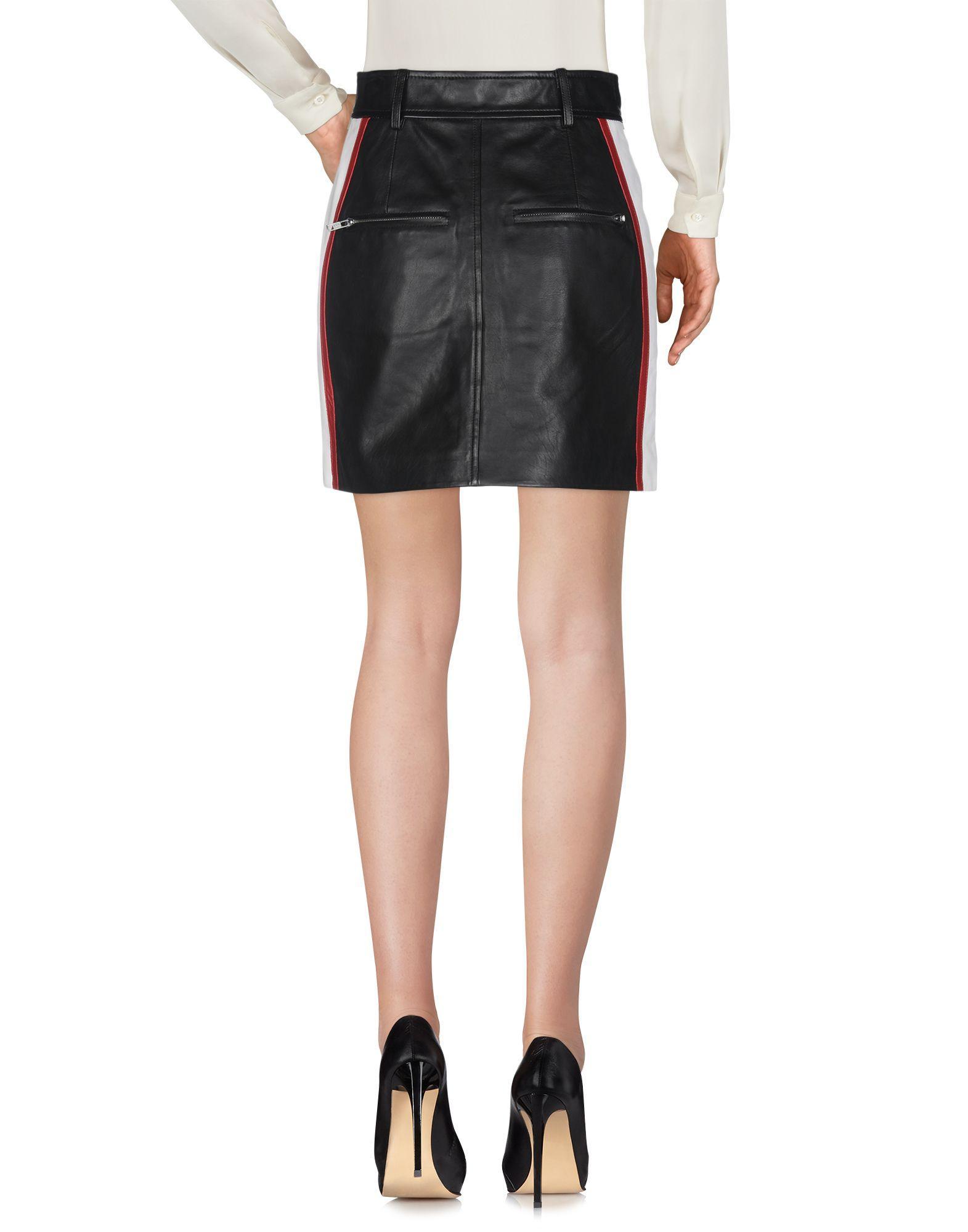 Falda corta Étoile Isabel Marant de Cuero de color Negro