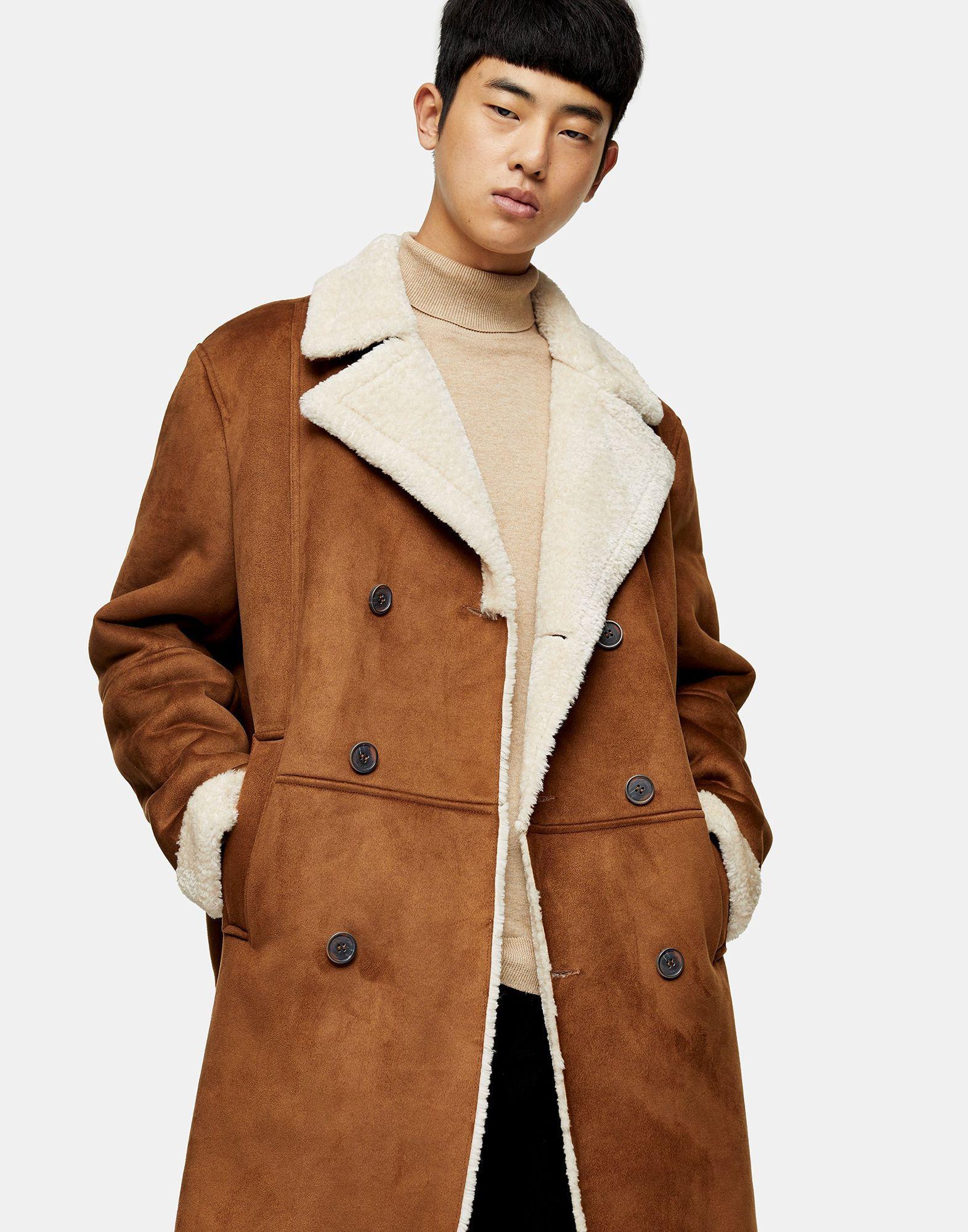 Manteau long TOPMAN pour homme en coloris Marron 5sqCs
