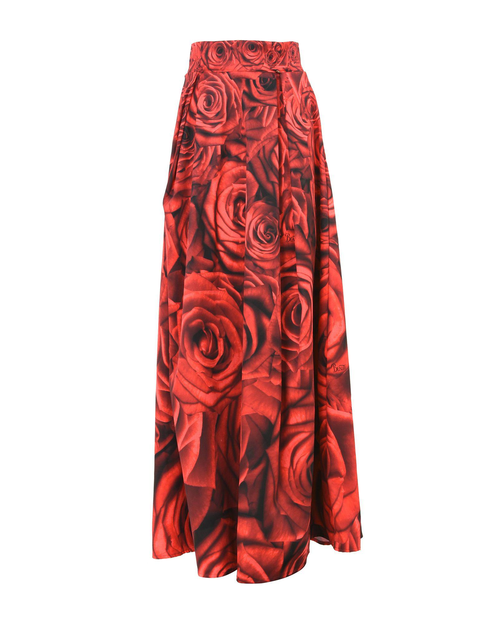 e513177db7a0 Lyst - SUGARBIRD Long Skirt in Red
