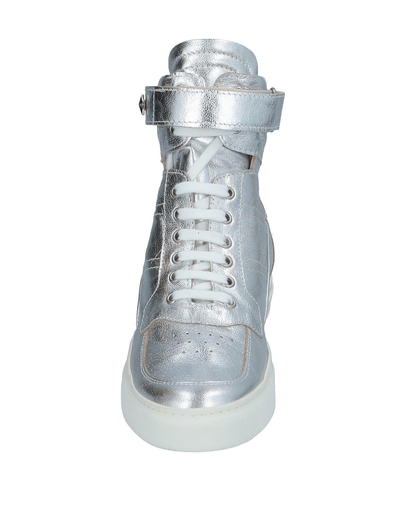Lea-Gu Leather High-tops & Sneakers in Silver (Metallic)