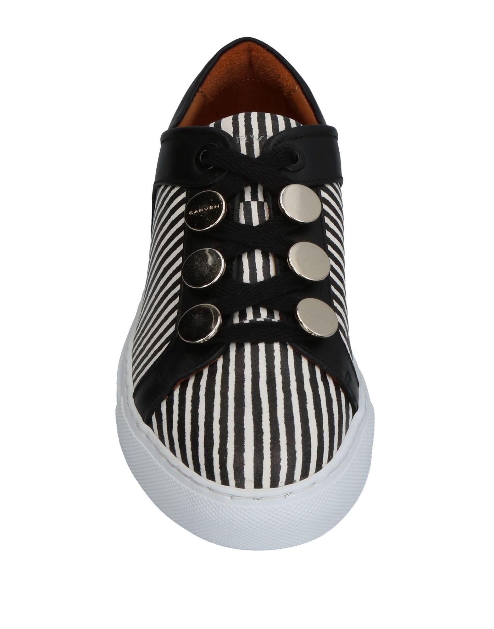 Carven Leather Resonance Sneakers in Black
