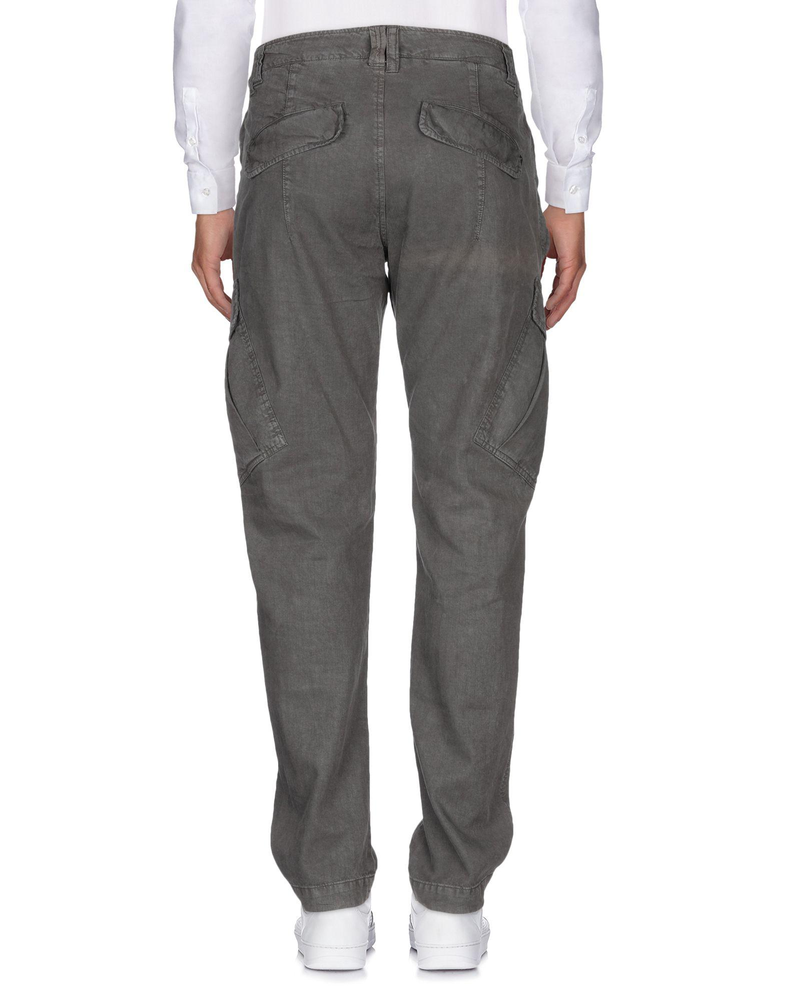 Dondup Linen Casual Pants in Lead (Grey) for Men