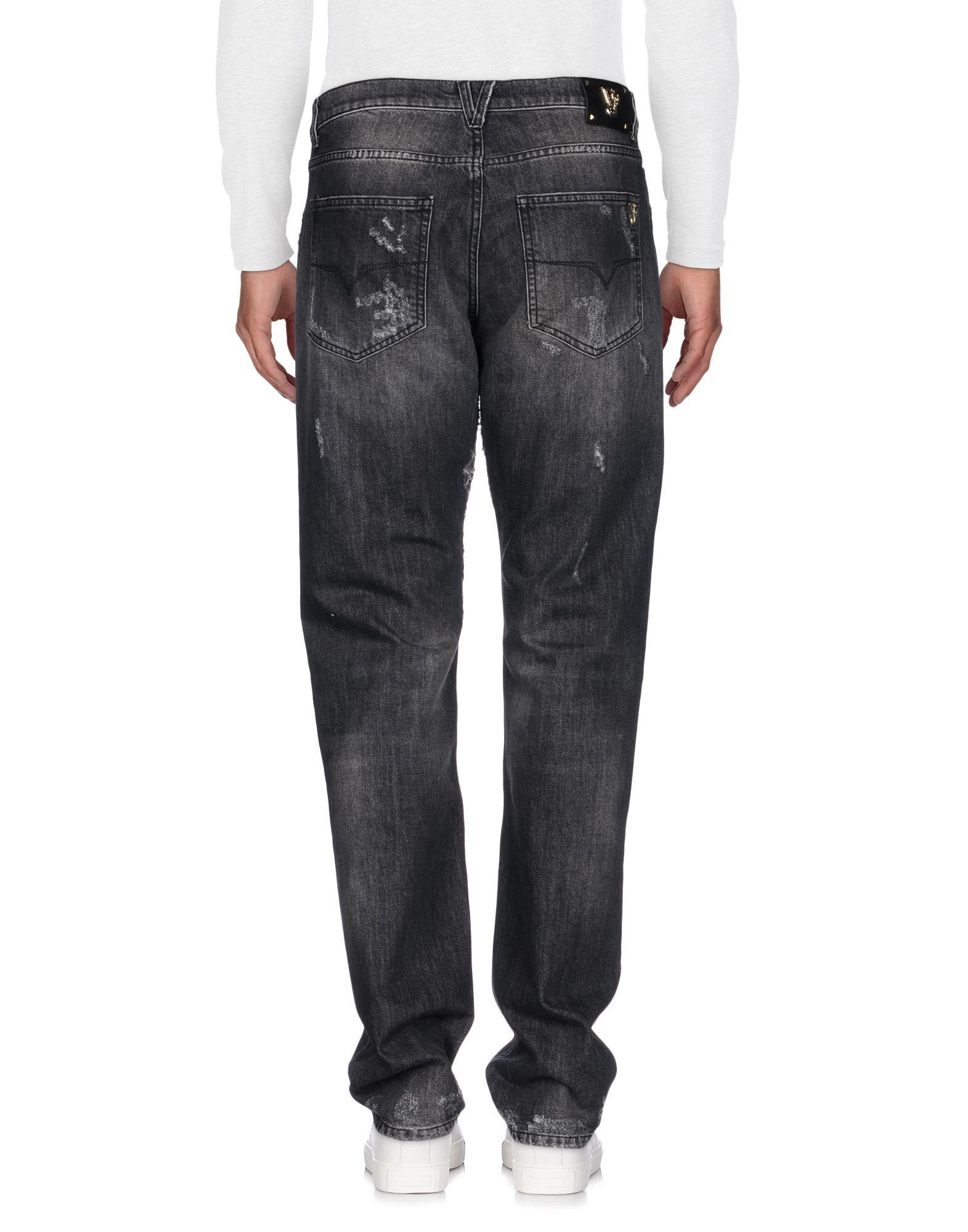 Versace Jeans Couture Denim Pants in Steel Grey (Grey) for Men