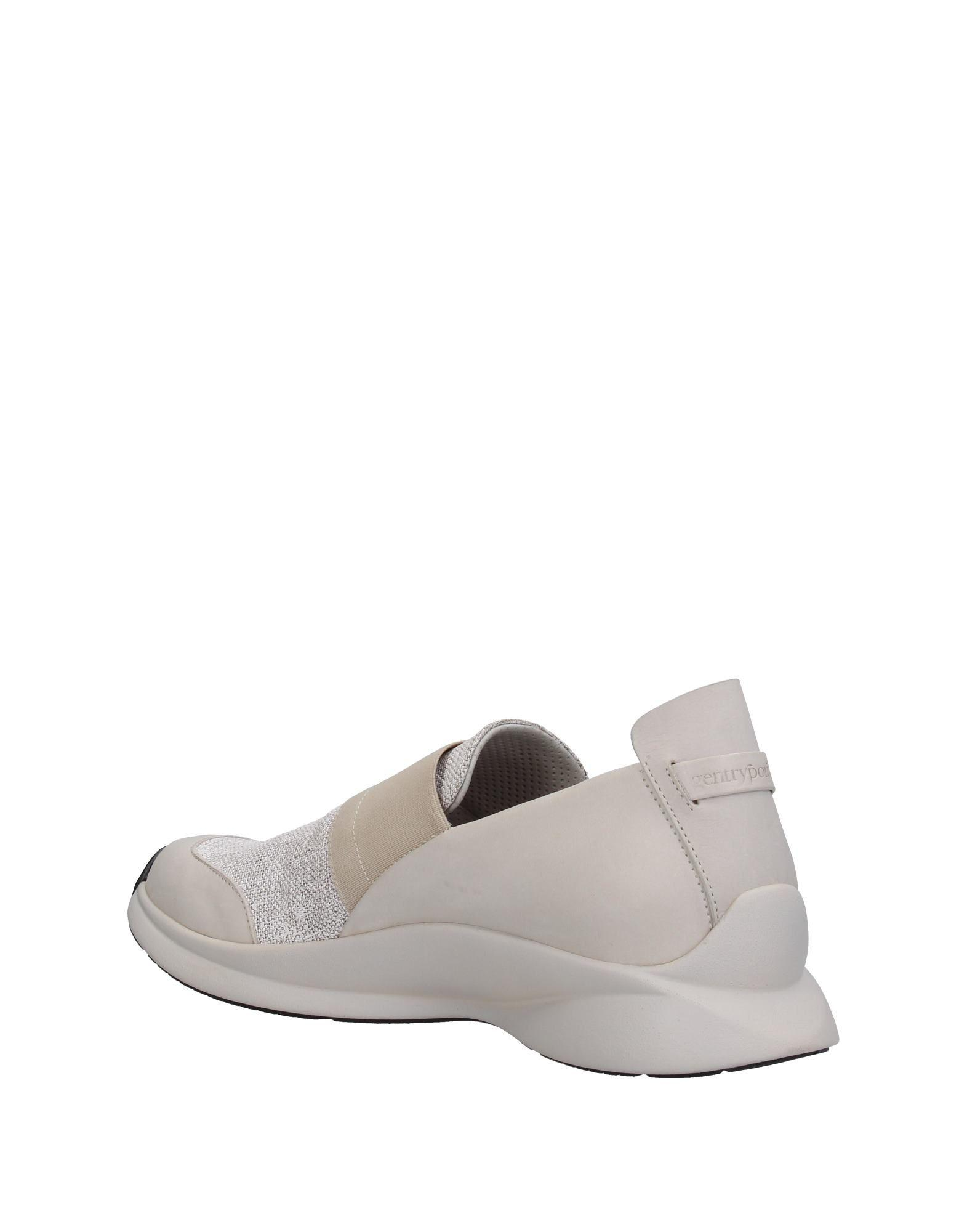 Gentry Portofino Leather Low-tops & Sneakers in Light Grey (Grey)