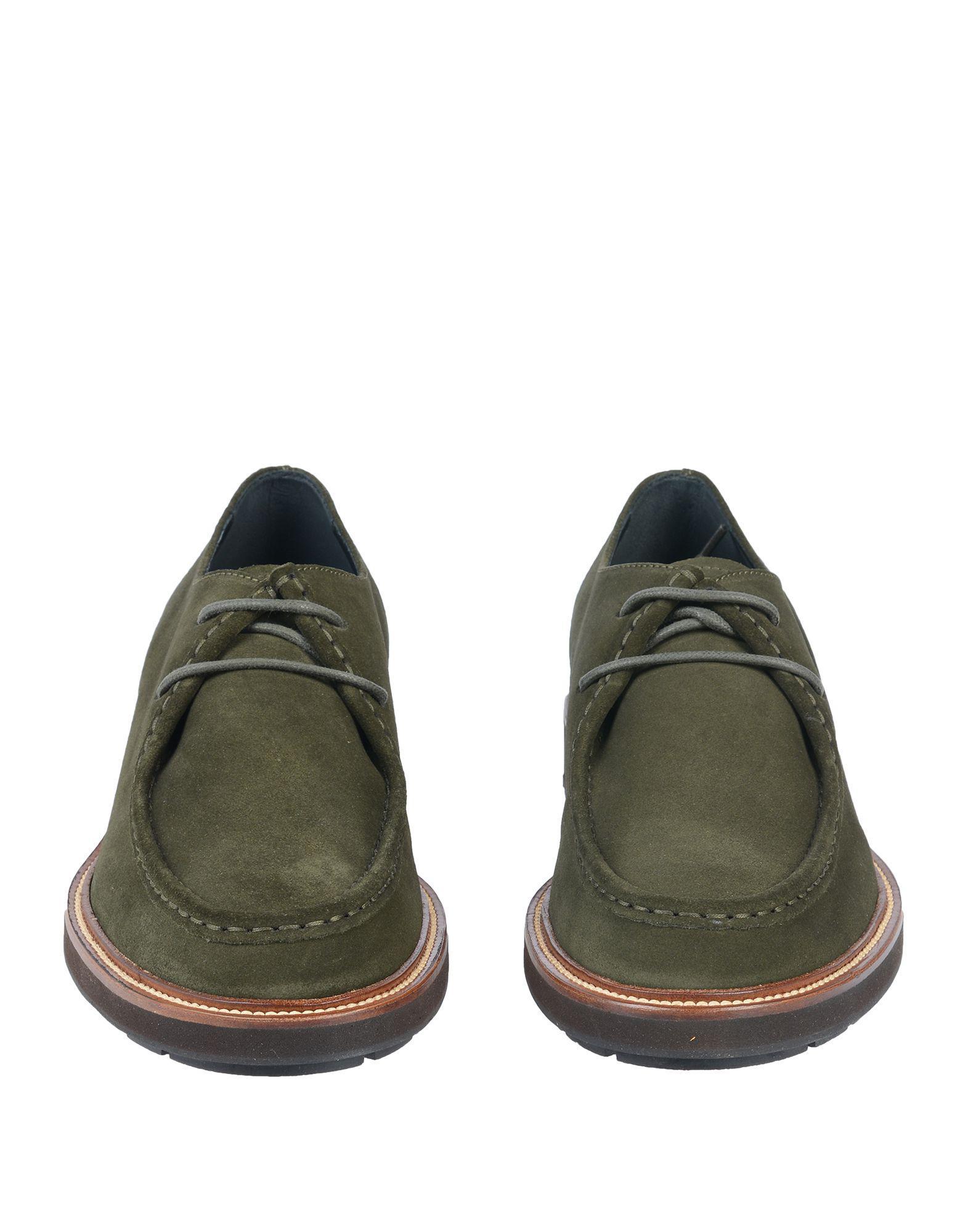 Zapatos de cordones Tod's de Ante de color Verde para hombre