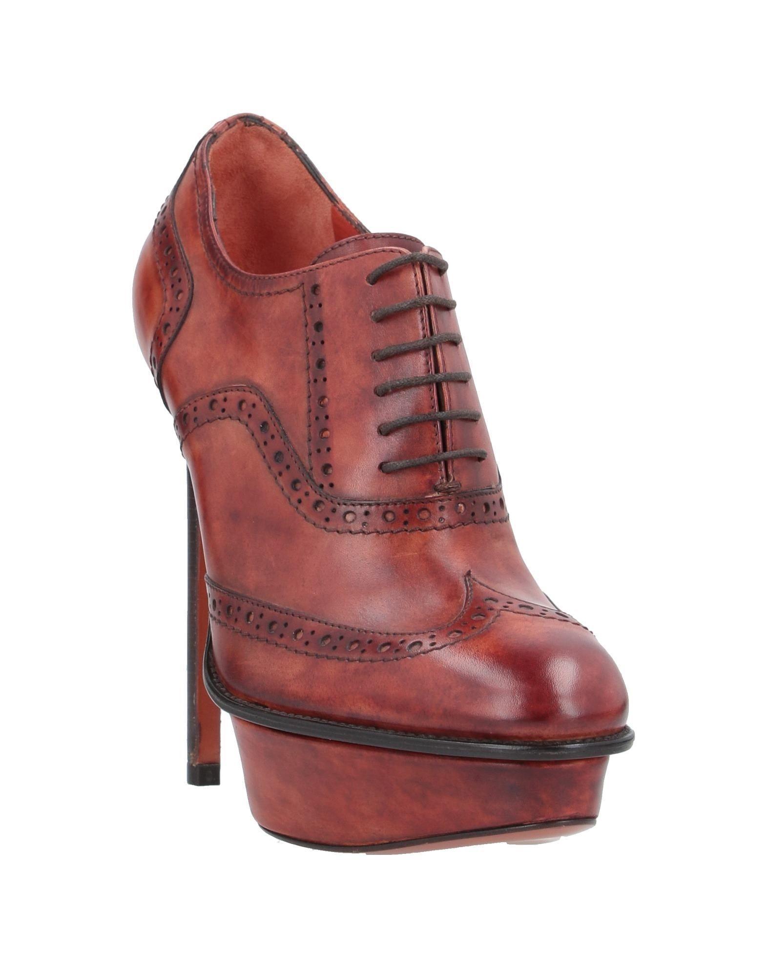 Zapatos de cordones Santoni de Cuero de color Marrón
