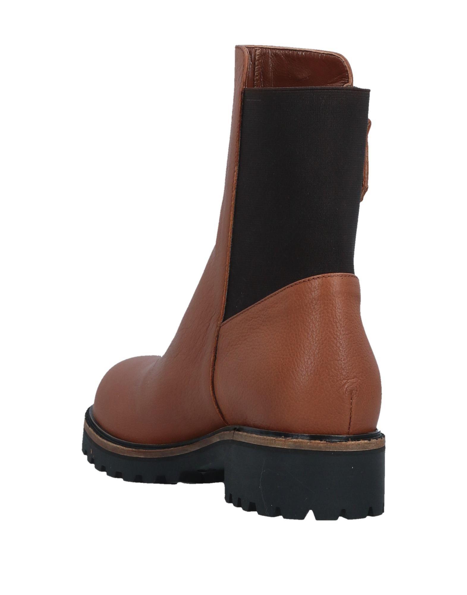 F.lli Bruglia Leather Ankle Boots in Tan (Brown)