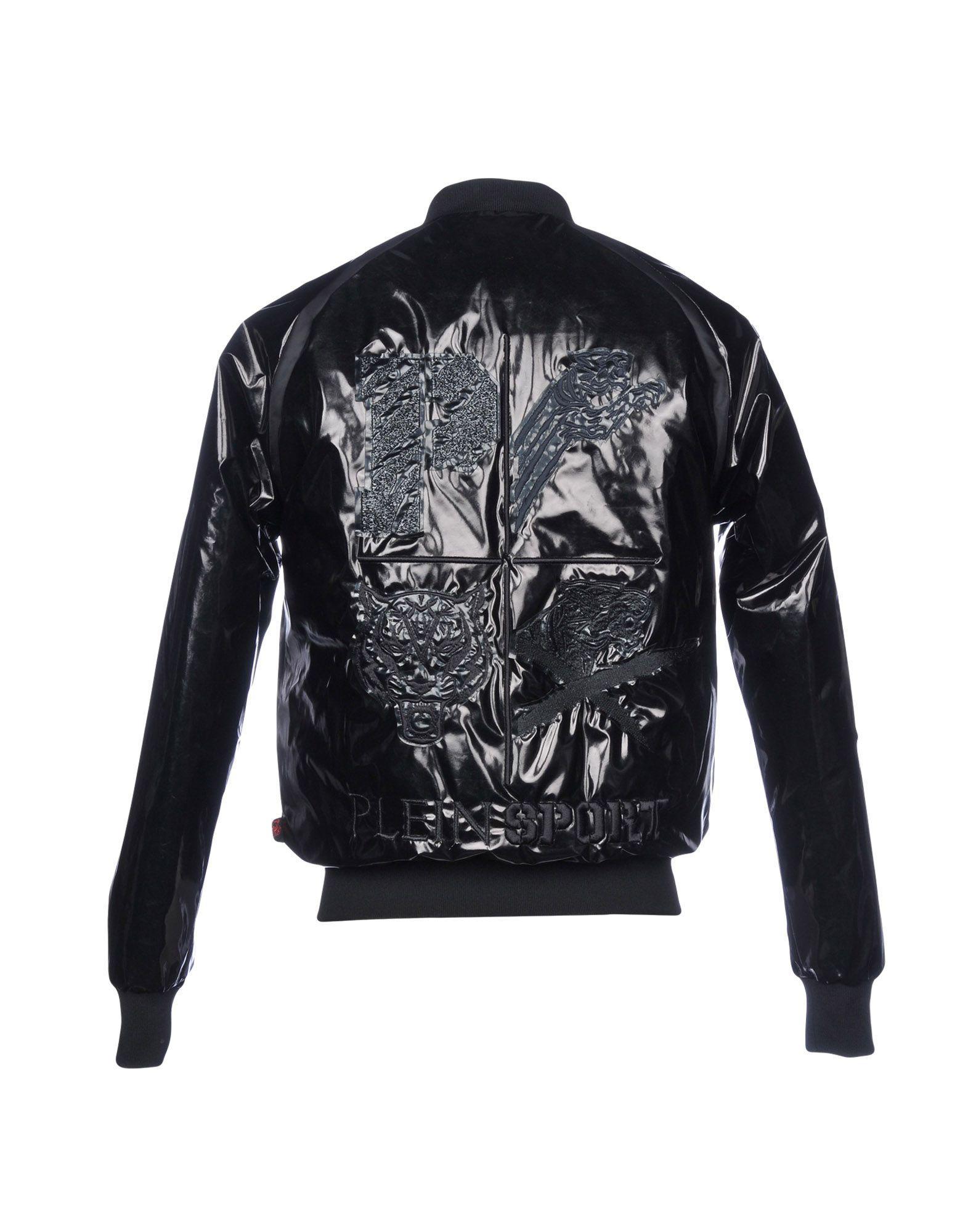 75102e3c55 Philipp Plein Synthetic Down Jacket in Black for Men - Lyst