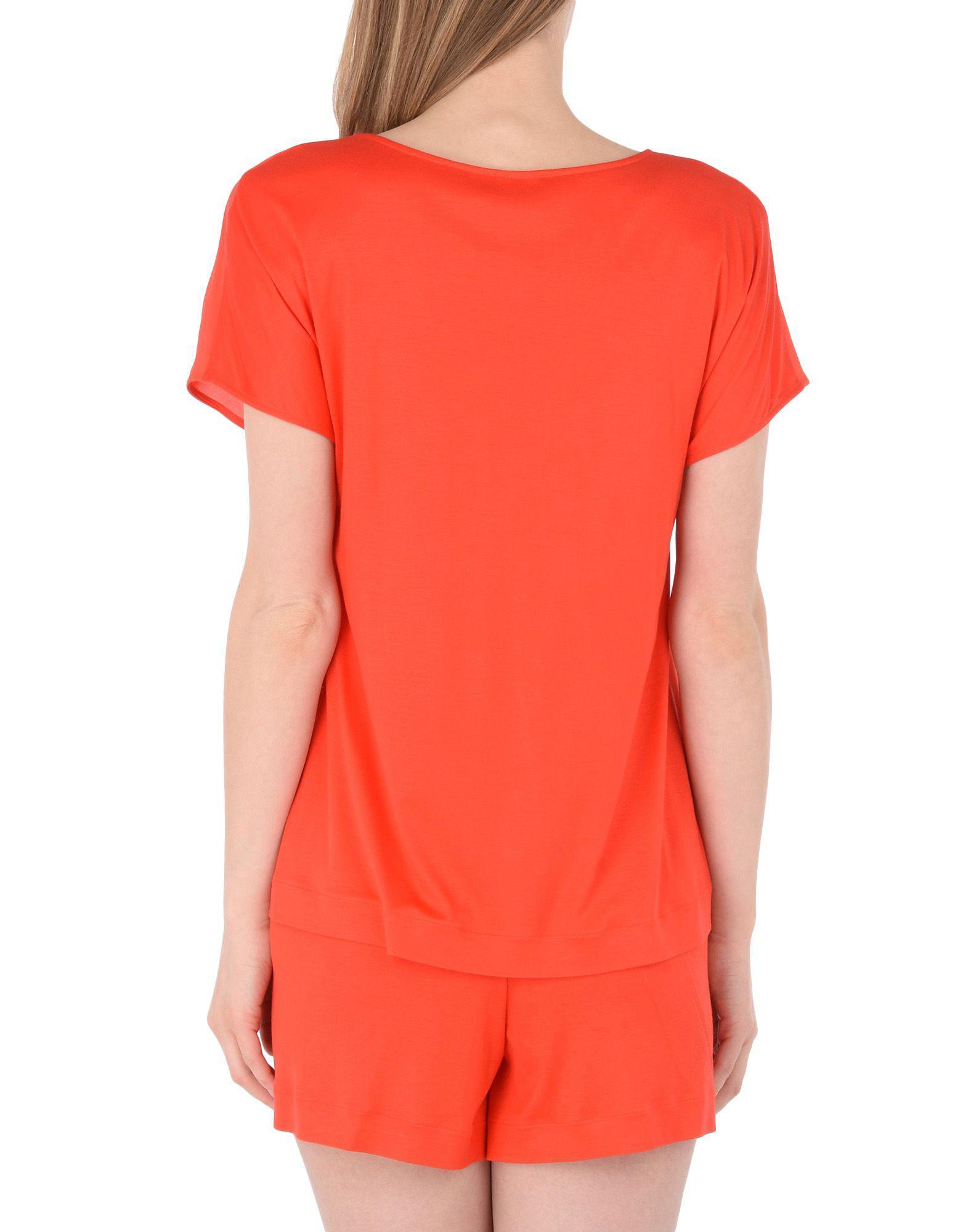 Pijama Hanro de Seda de color Rojo