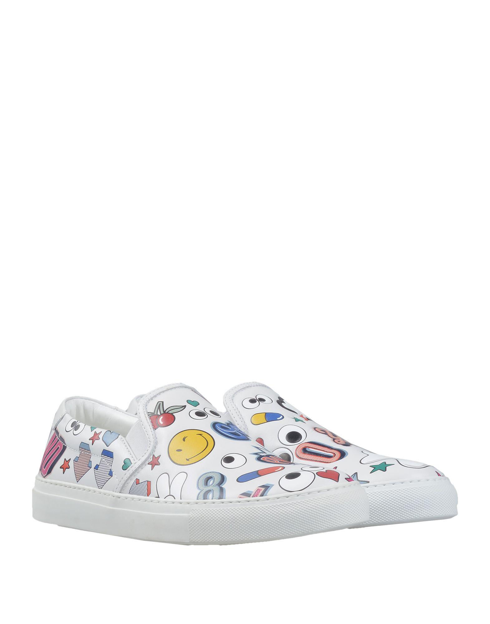 Anya Hindmarch All Over Stickers Leather Sneakers in White